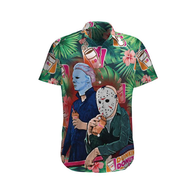 Halloween Dunkins Jason Enjoy Horror Hawaiian Shirt