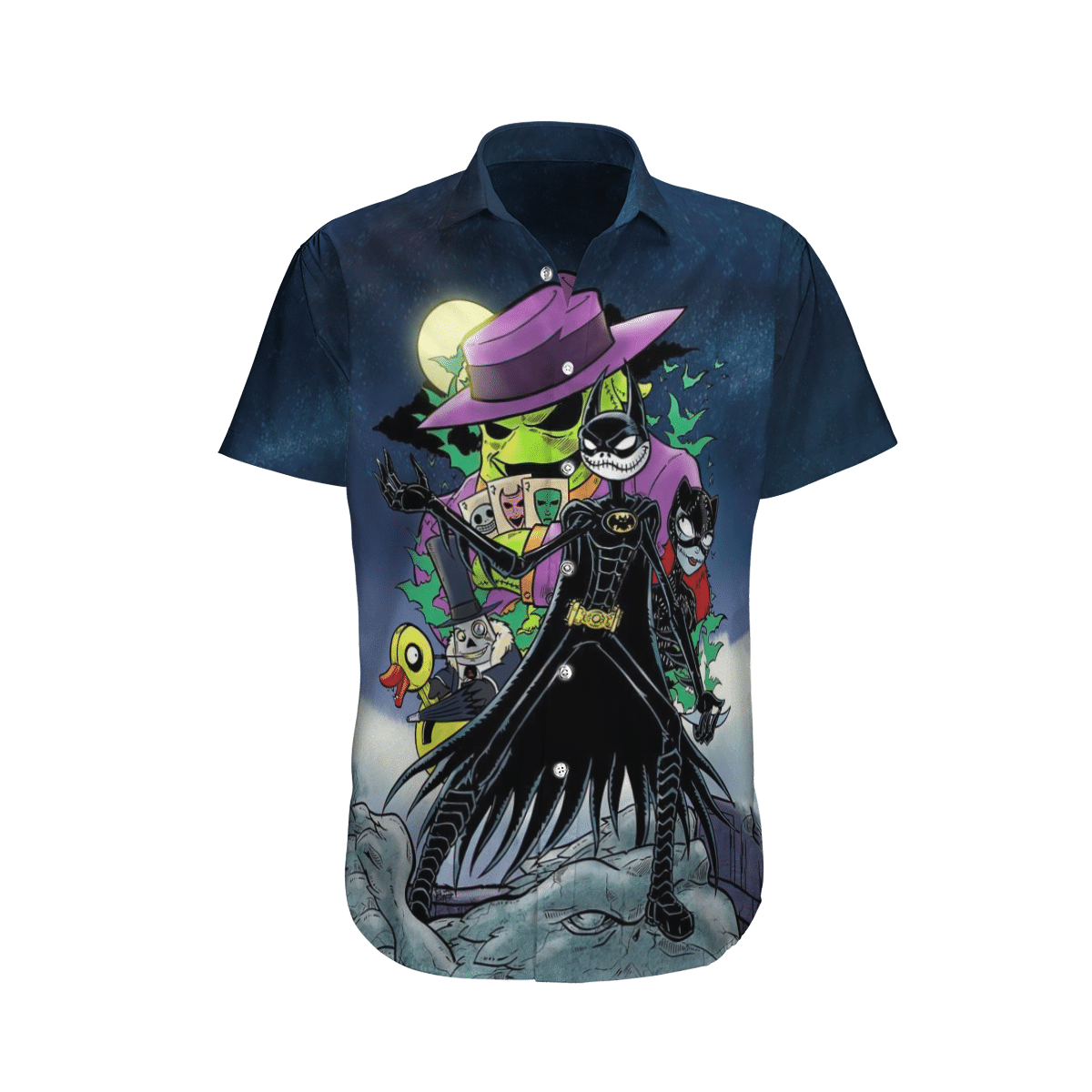 Halloween Jack Skellington Batman Hawaiian Shirt