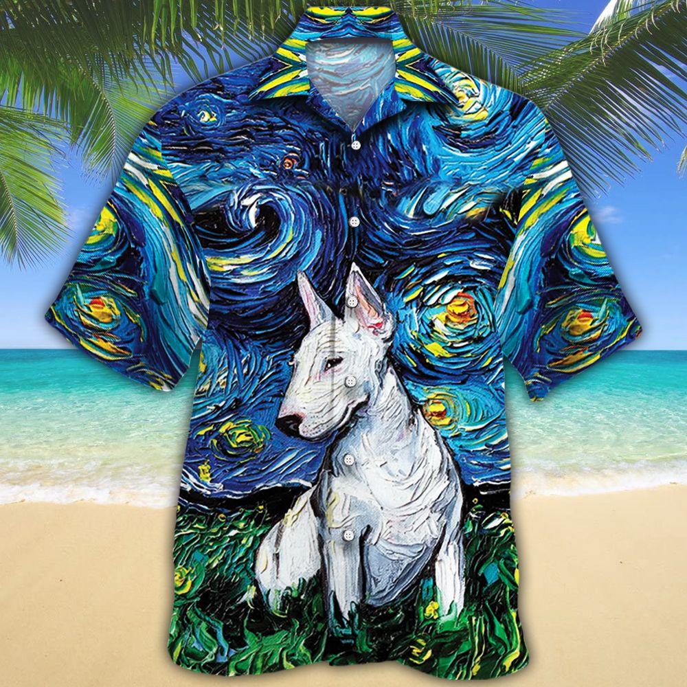 Bull Terrier Dog Lovers Night Hawaiian Shirt