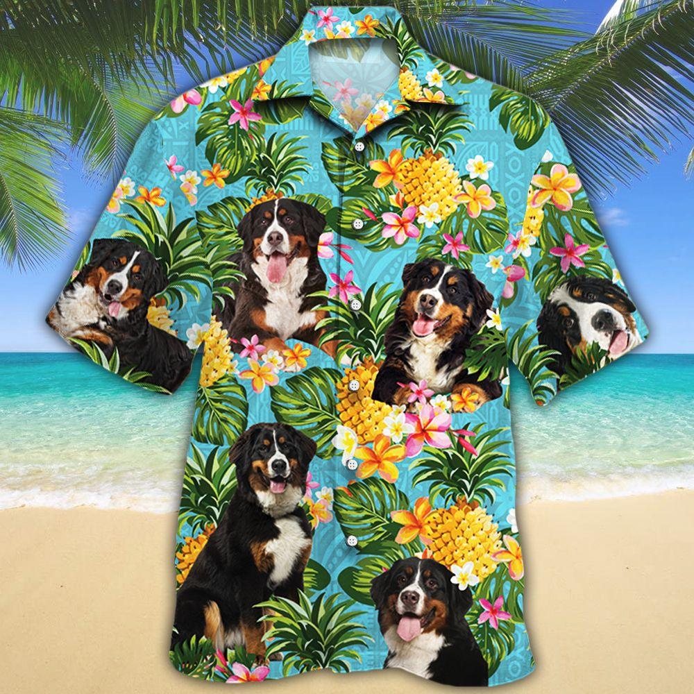 Bernese Mountain Dog Lovers Pineapple Hawaiian Shirt