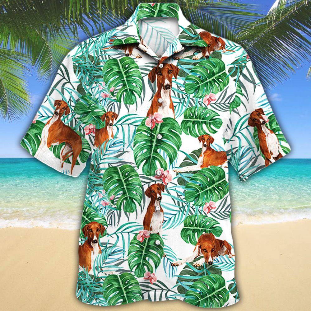Azawakh Dog Lovers Tropical Plant Hawaiian Shirt