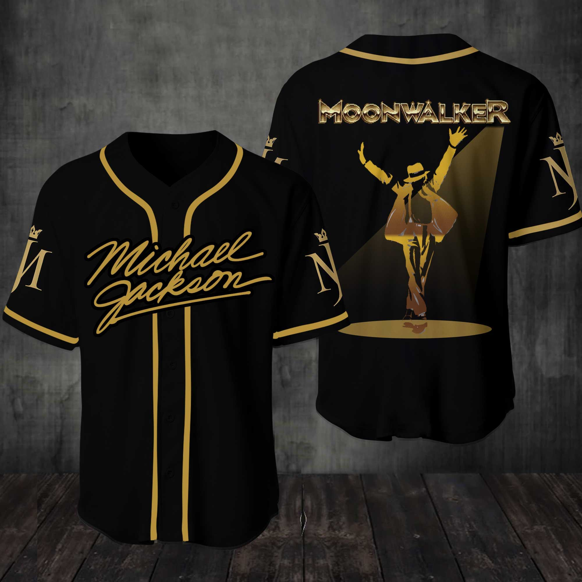 Michael Jackson Mooonwalker Baseball Jersey Shirt