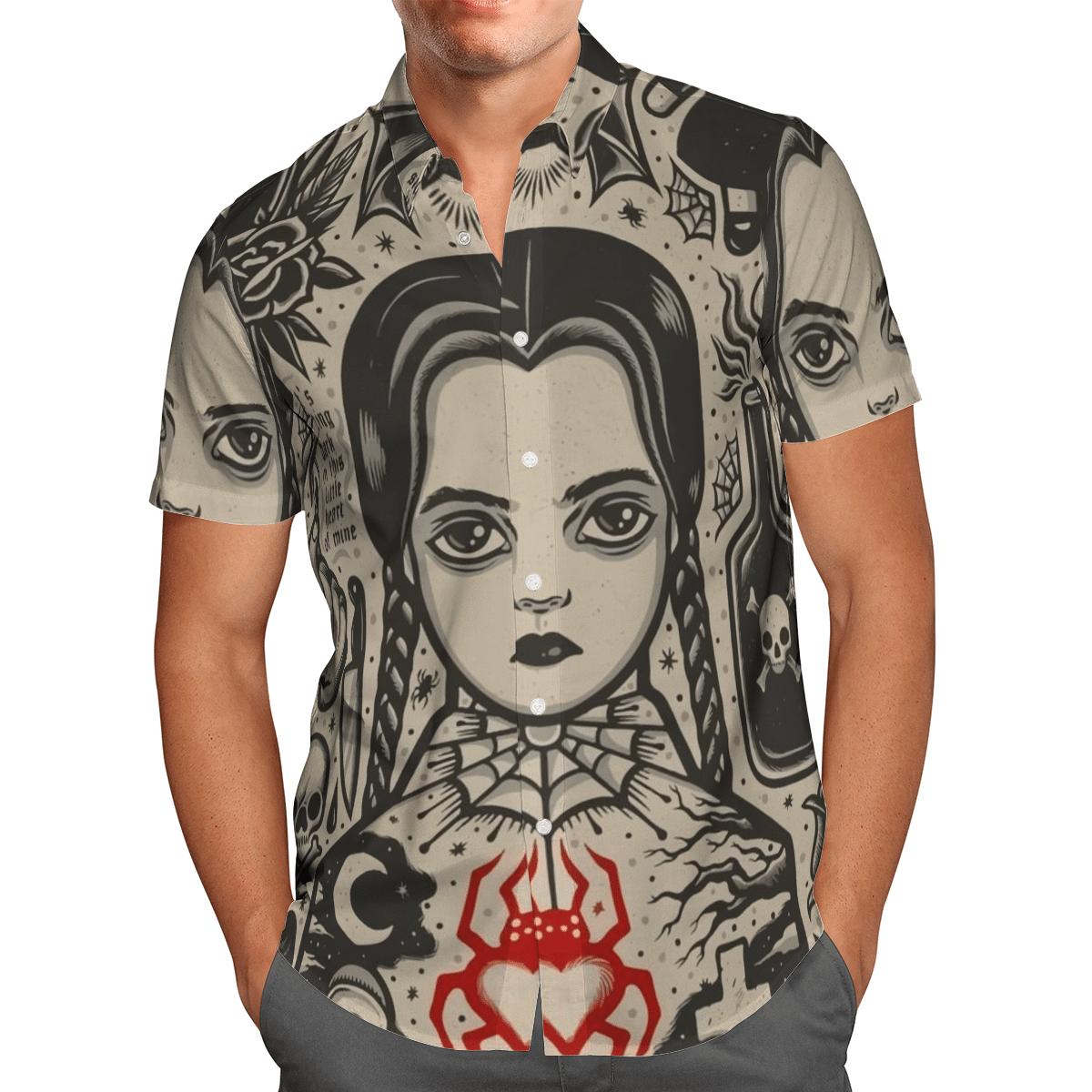 Wednesday Horror Movie Hawaiian Shirt