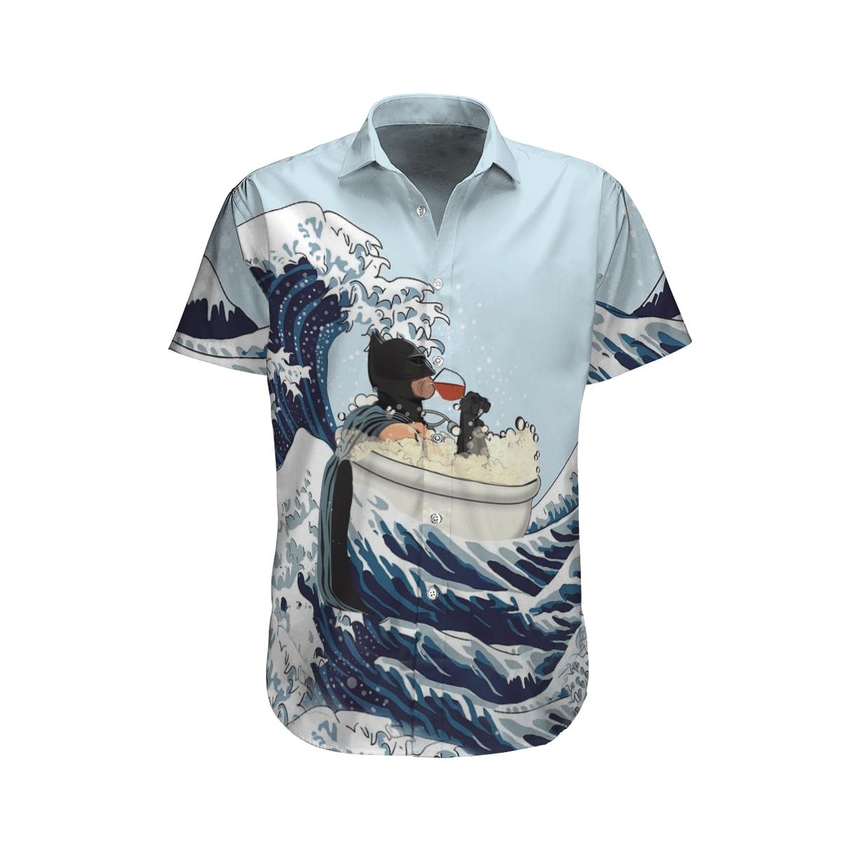 Batman bathtub and drinking Hawaiian Shirt Summer Shirt