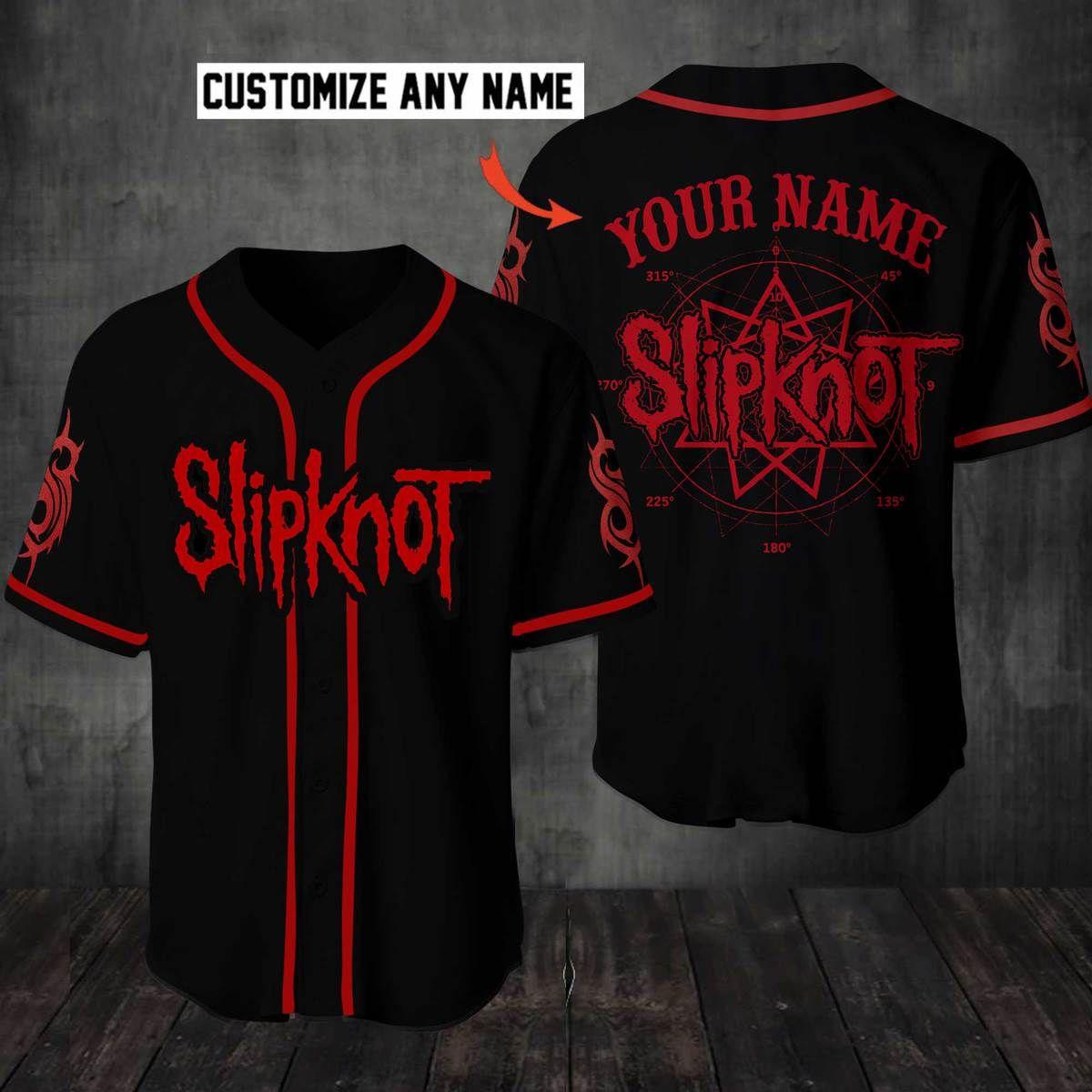 Slipknot Custom Name Baseball Jersey Shirt