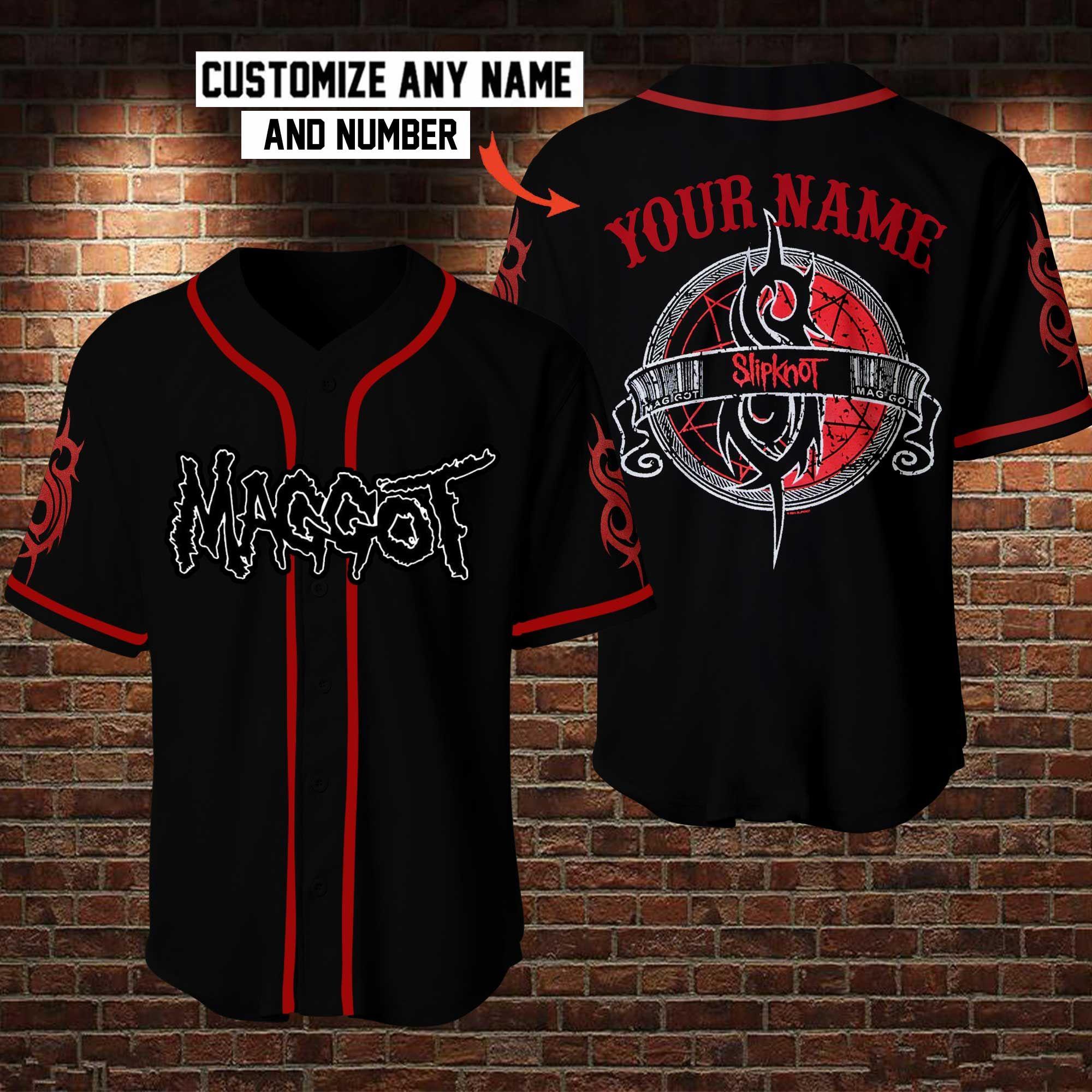 Maggot Slipknot Custom Name Baseball Jersey Shirt