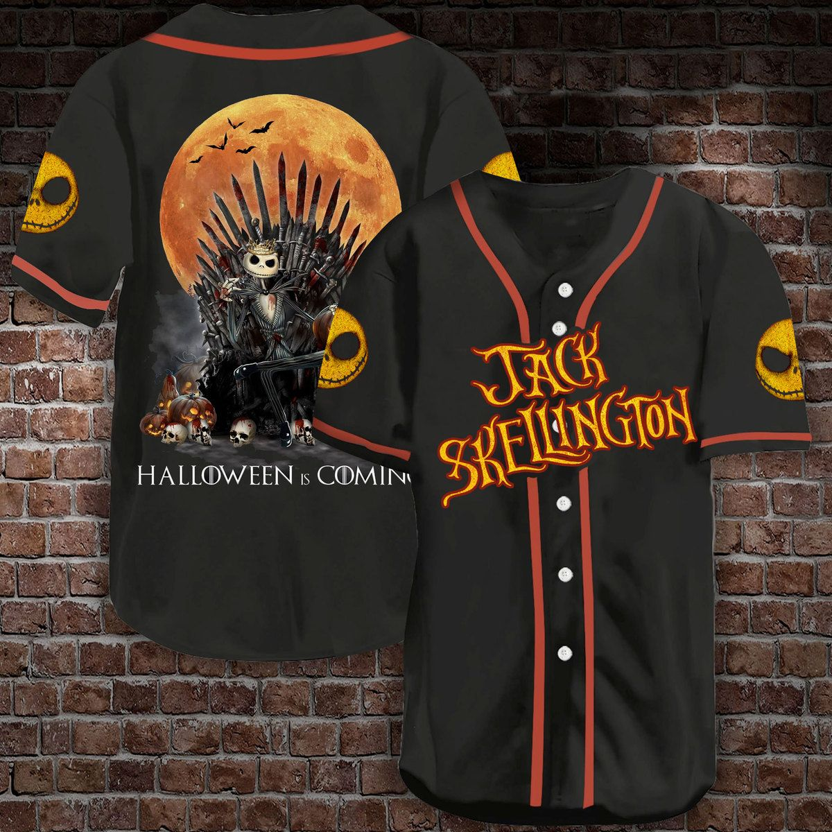 Jack Skellington Halloween is coming Baseball Jersey Shirt