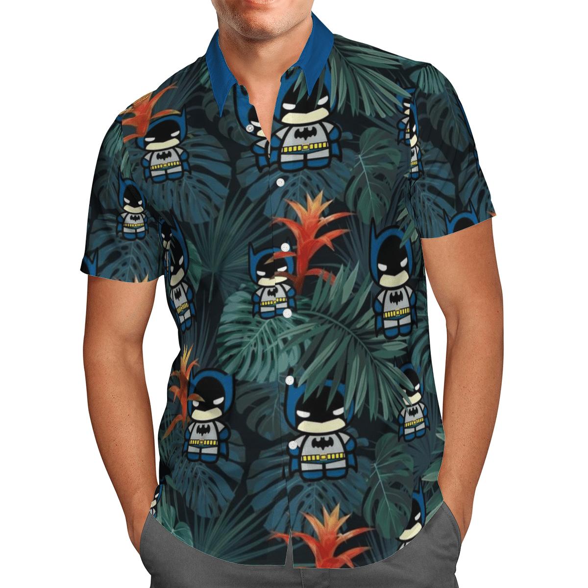 Tiny Batman Animation floral Hawaiian Shirt