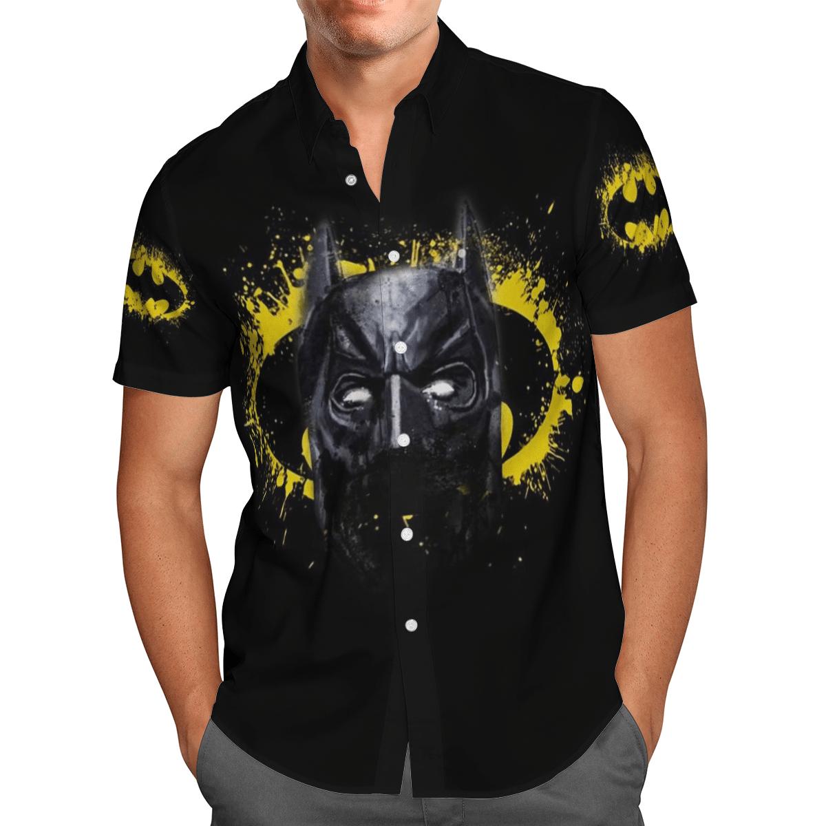 Batman Logo Face Hawaiian Shirt