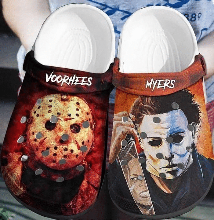 Voorhees And Myers Horror Movie Crocs crocband clogs shoes