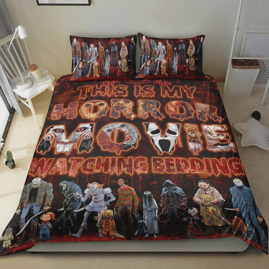 Halloween This Is My Horror Movie Watching Bedding Set