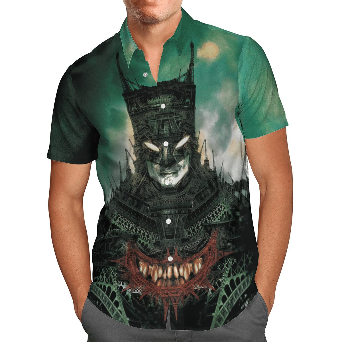 Batman Pattern Tower Hawaiian Shirt