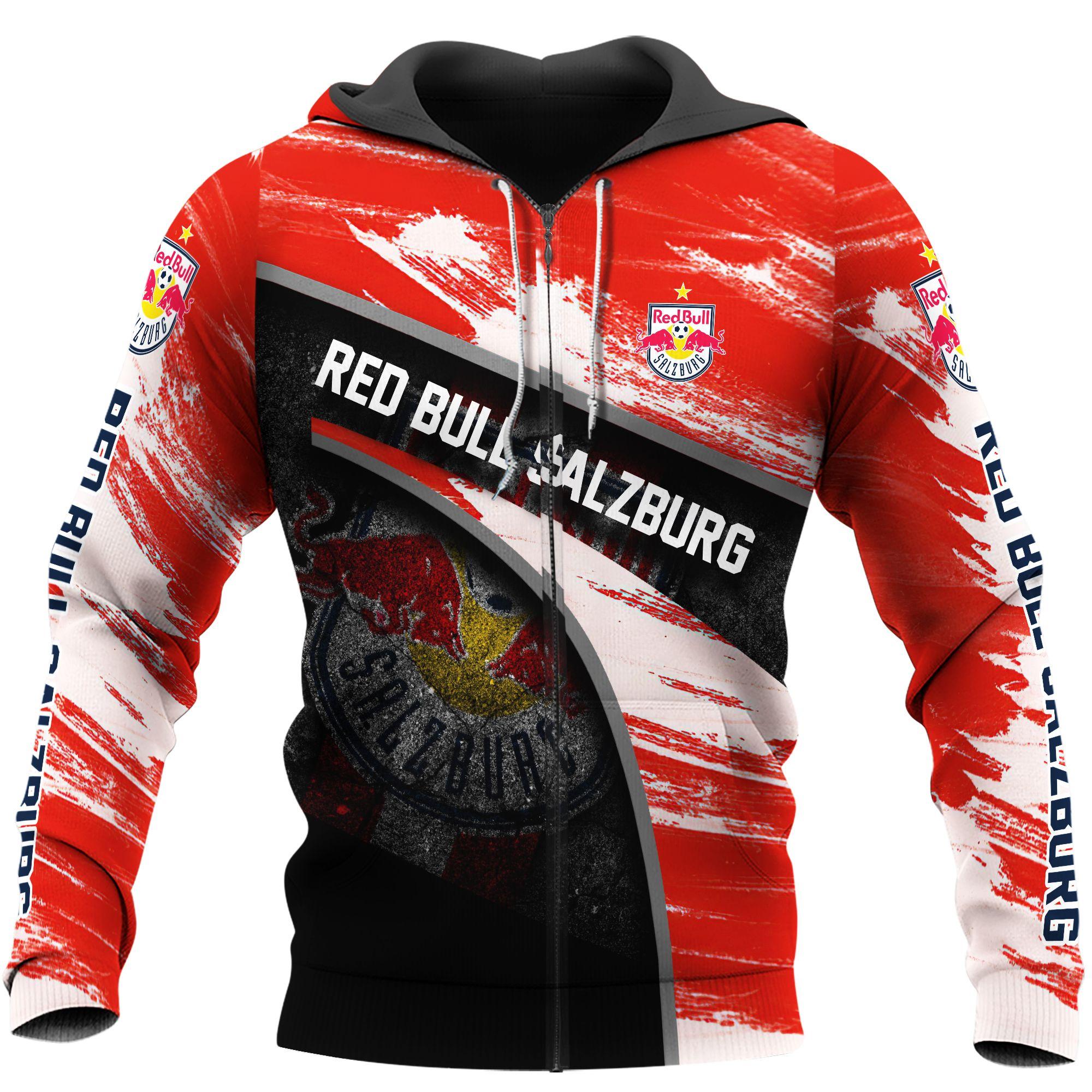 Red Bull Salzburg Football 3D Hoodie
