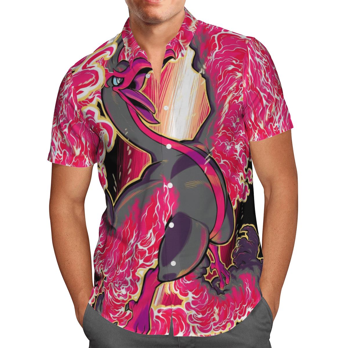 Pokemon Hooh Ho Oh Hawaiian Shirt