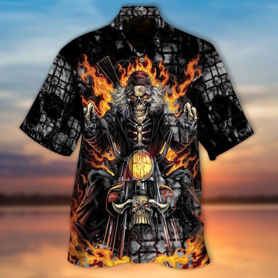 Biker Skull Gorgeous Hawaiian Shirt