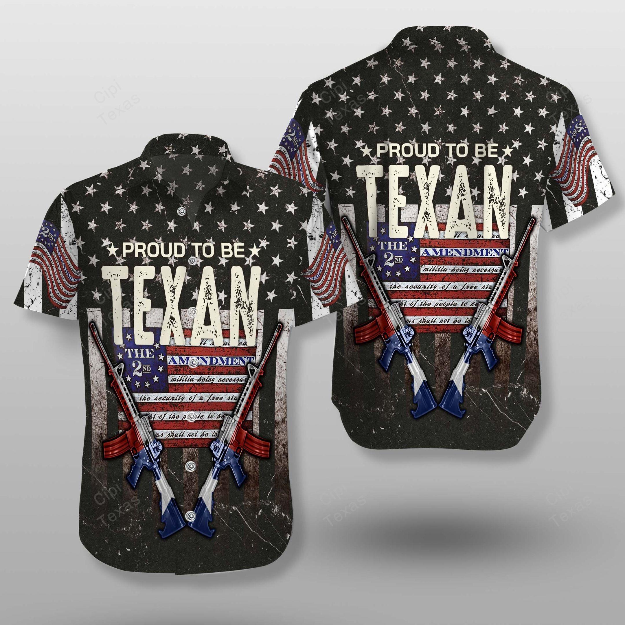 Proud to be Texans Hawaiian Shirt Summer Shirt