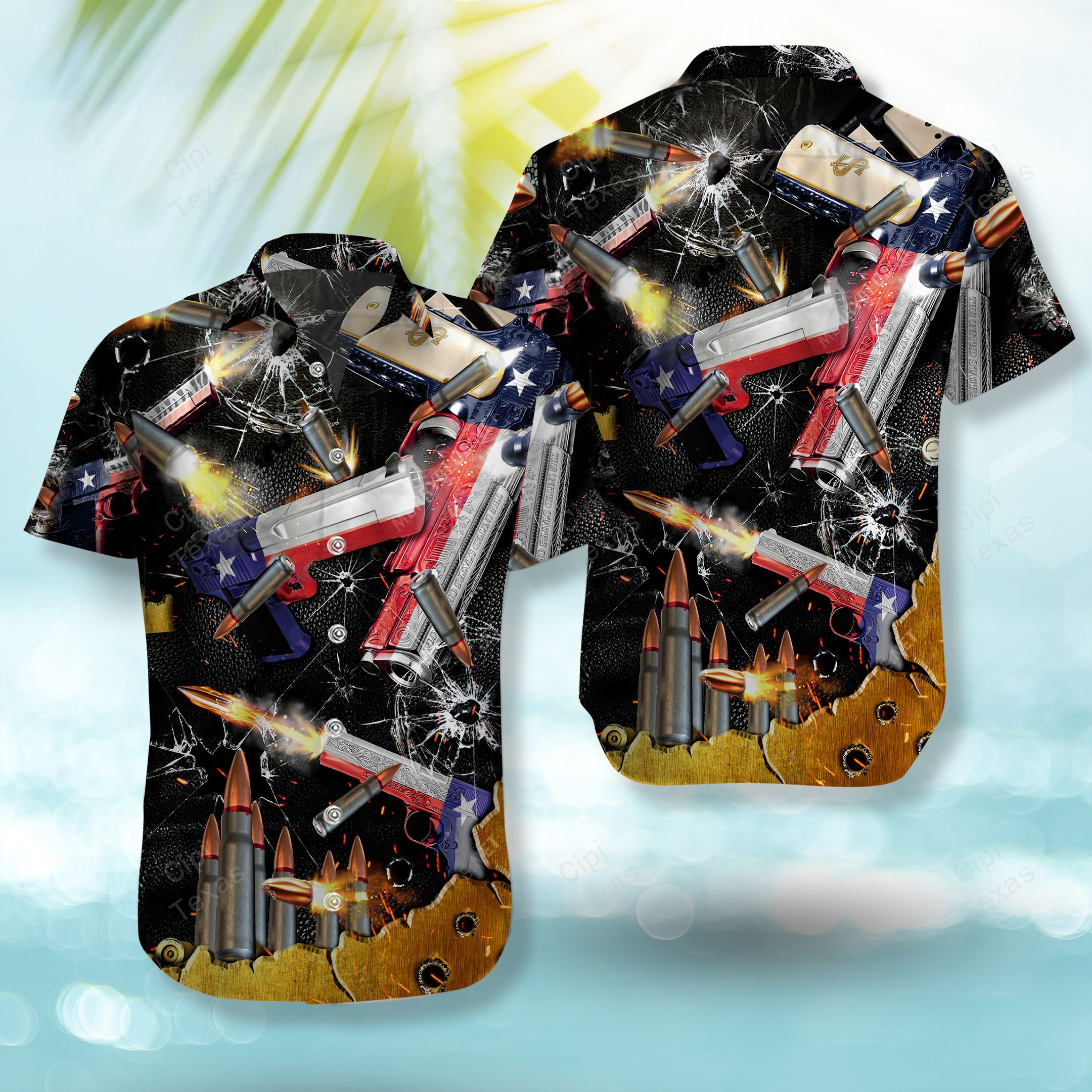One Shot For Territory Invaders Texas Hawaiian Shirt