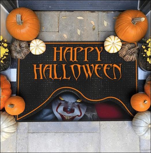 Pennywise clown Happy Halloween Doormat