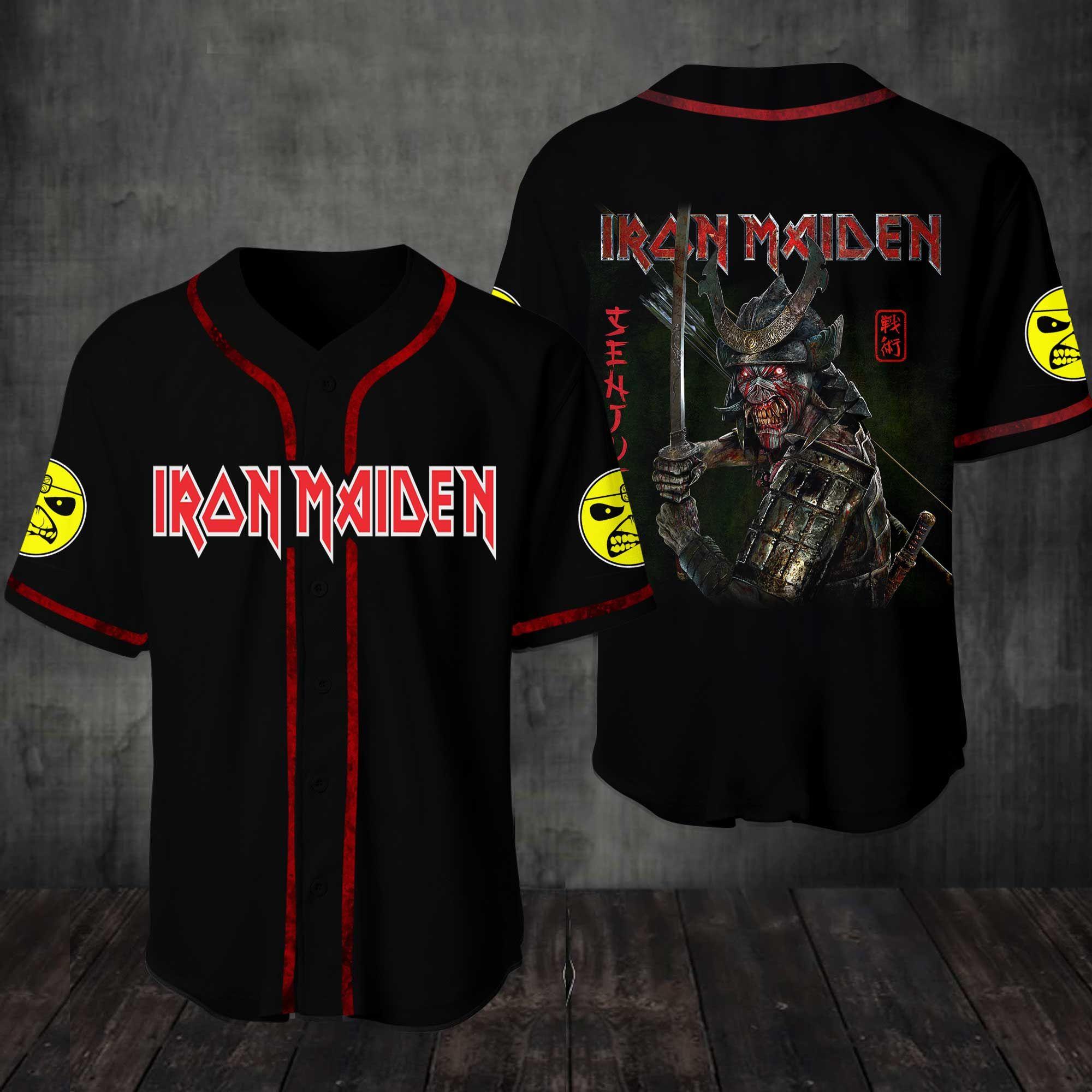 Iron Maiden Band Baseball Jersey Shirt