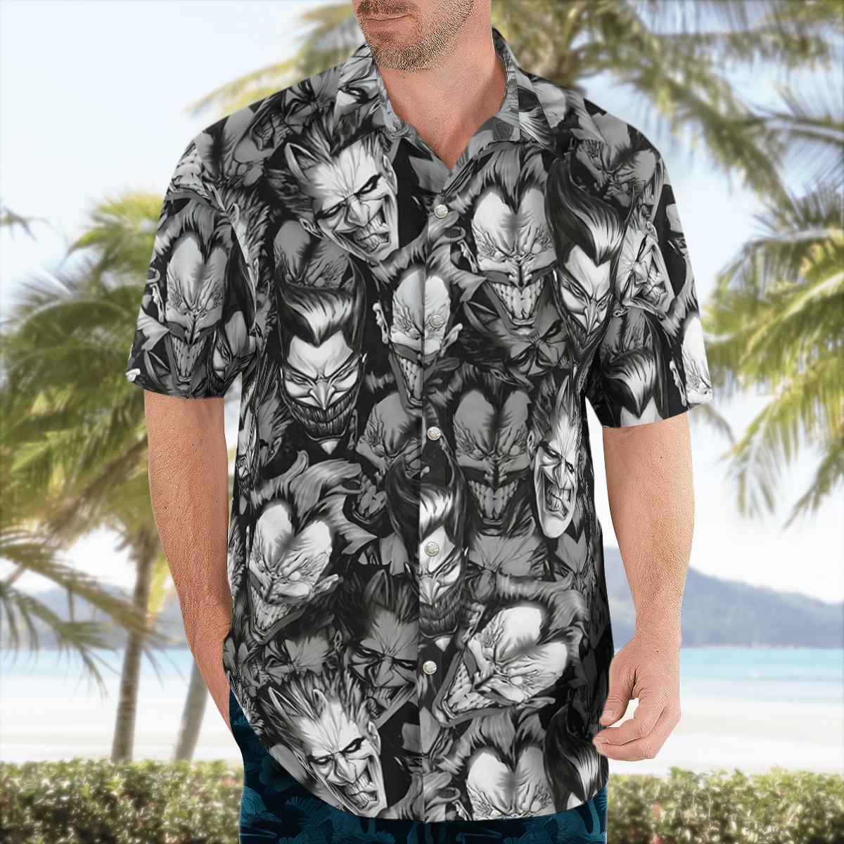 Joker faces Hawaiian Shirt Batman