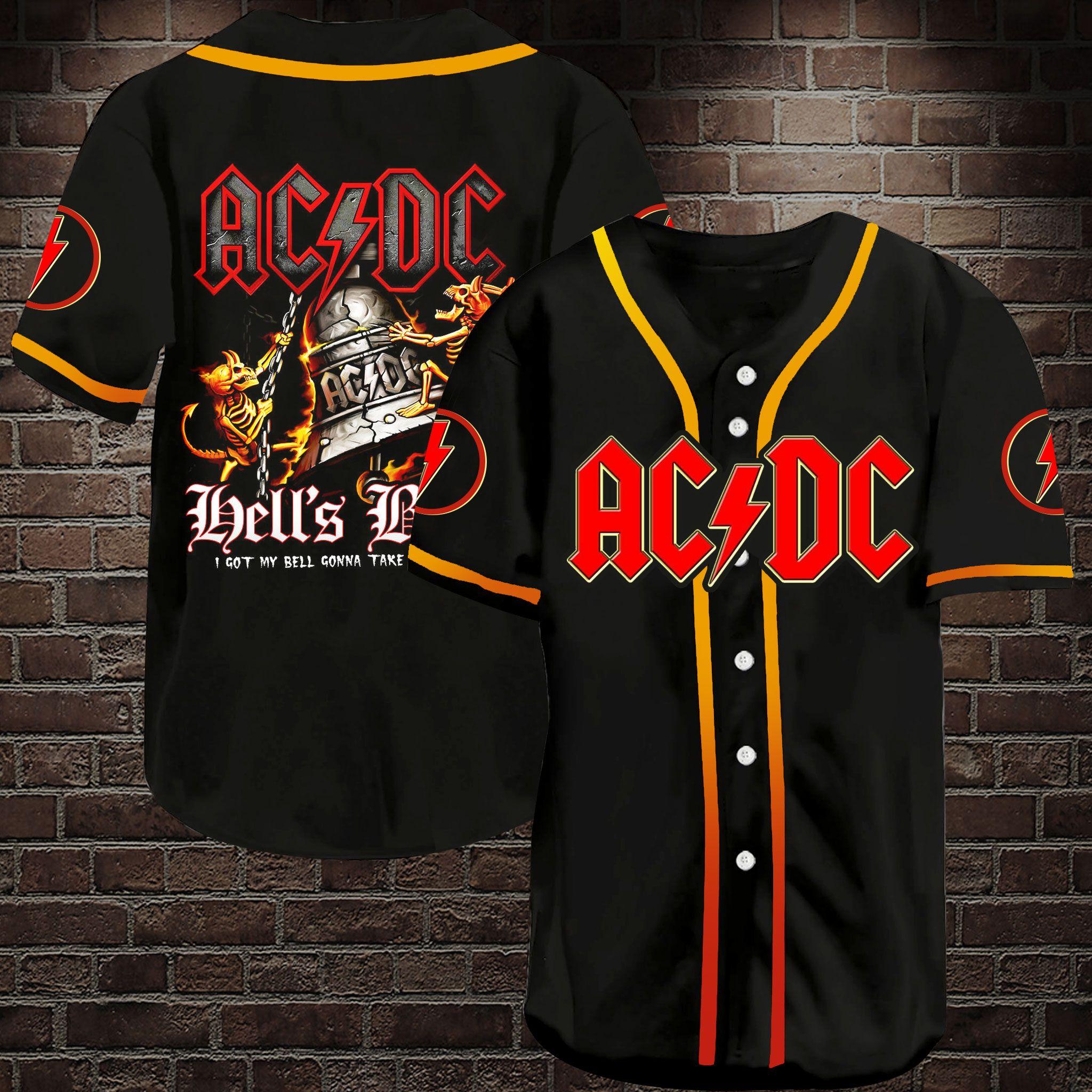 ACDC Got My Bell Rock Band Baseball Jersey Shirt
