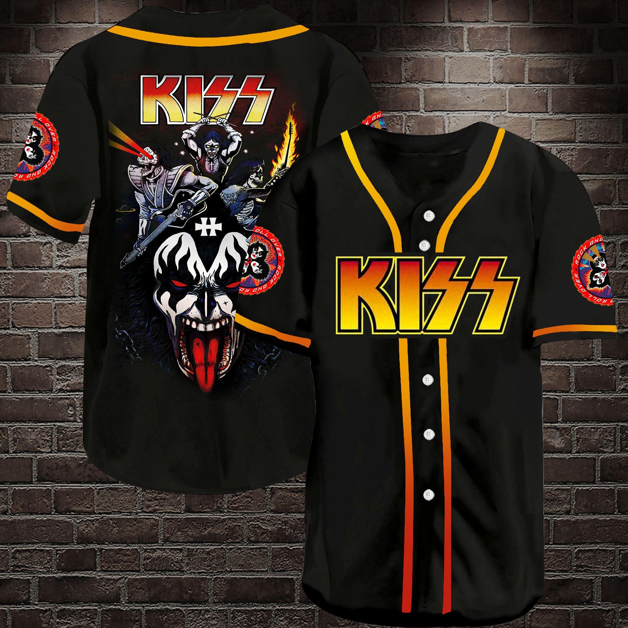 Kiss Rock Band Baseball Jersey Shirt