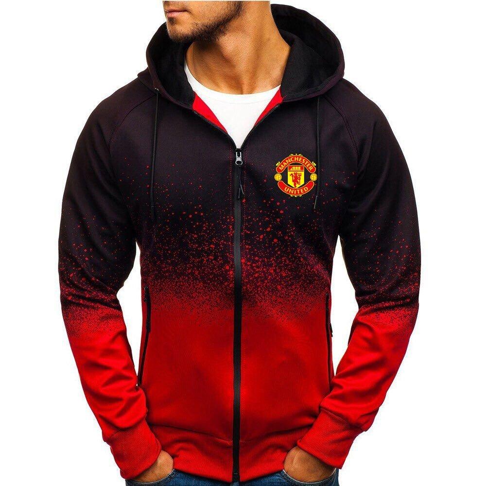 Manchester United MUFC gradient zip hoodie