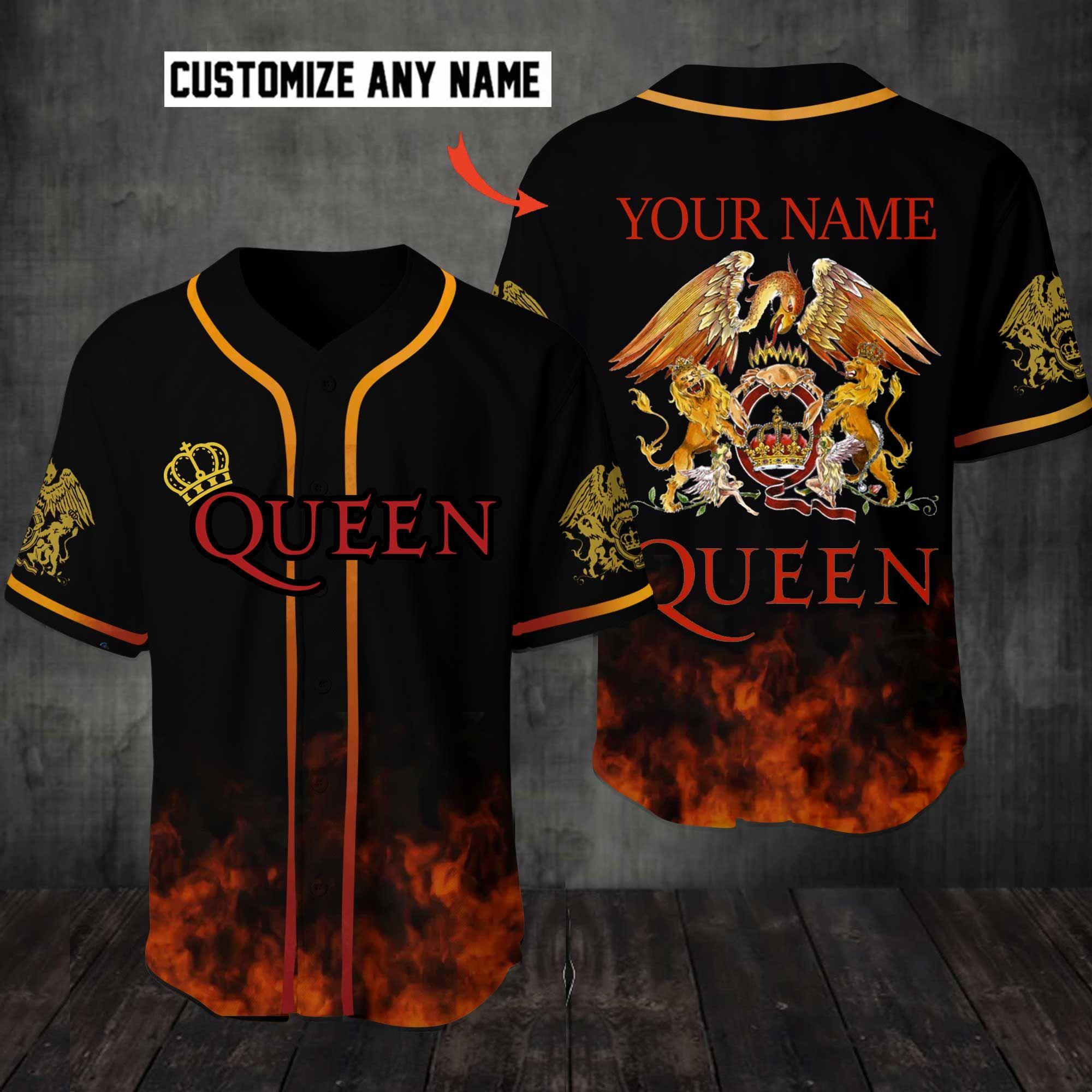 Queen Rock band Customize Name Baseball Jersey Shirt