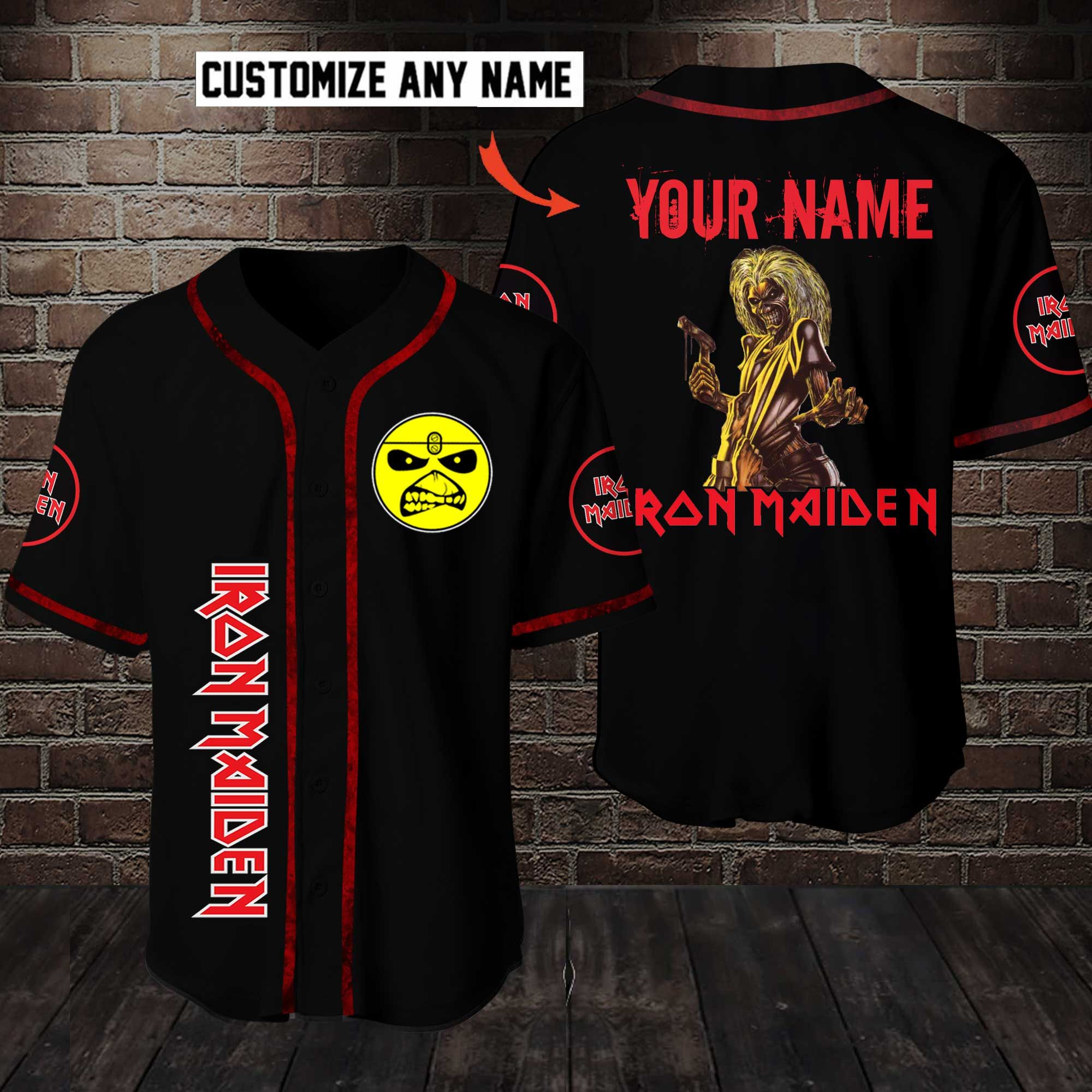 Iron Maiden Scary Customize Name Baseball Jersey Shirt