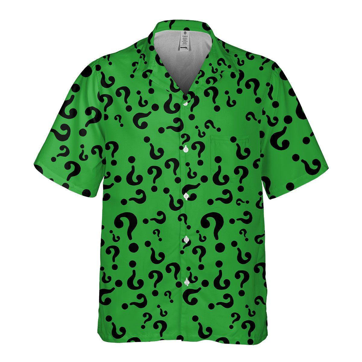 Riddler Supervillain Green Hawaiian Shirt