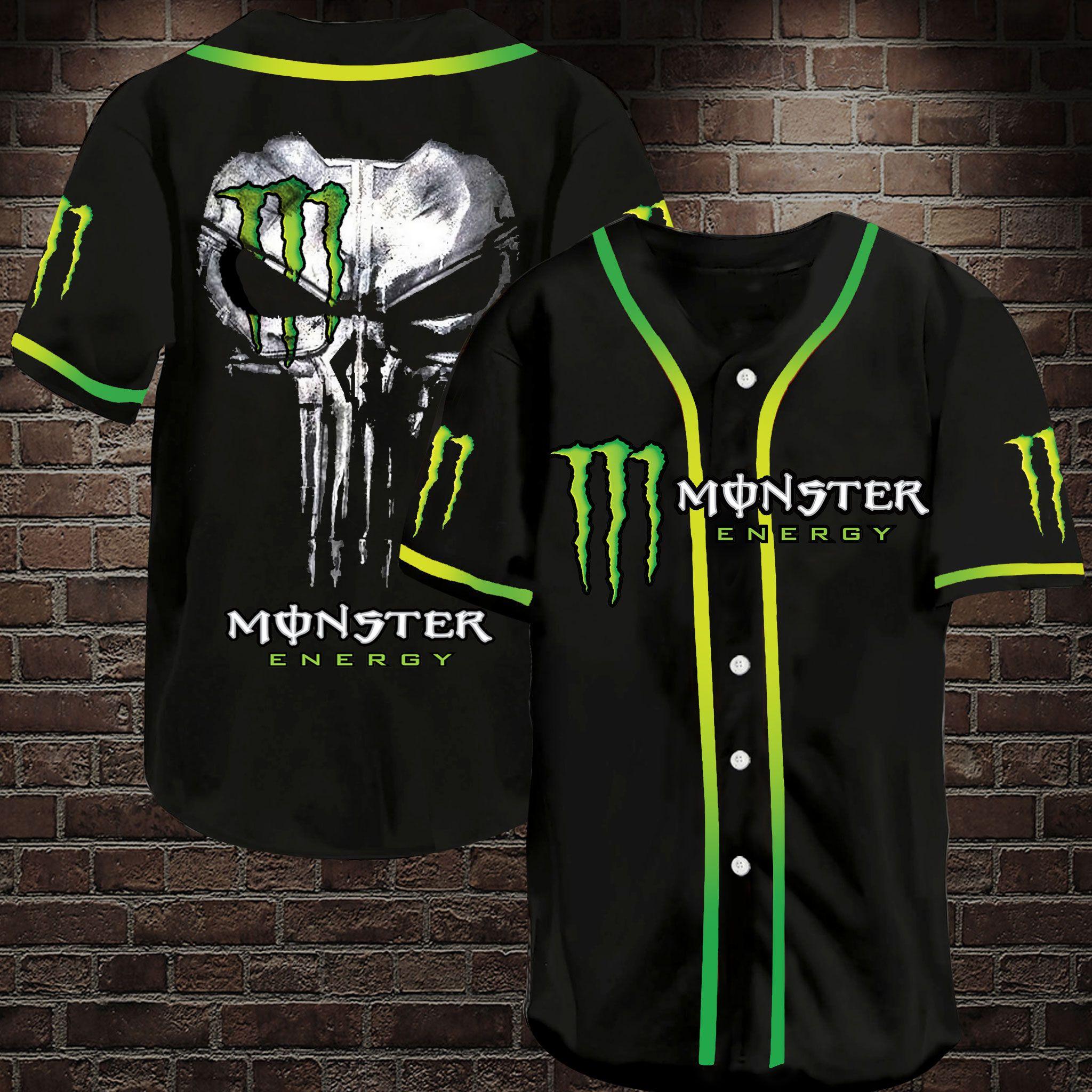 Monster Energy drink Baseball Jersey Shirt