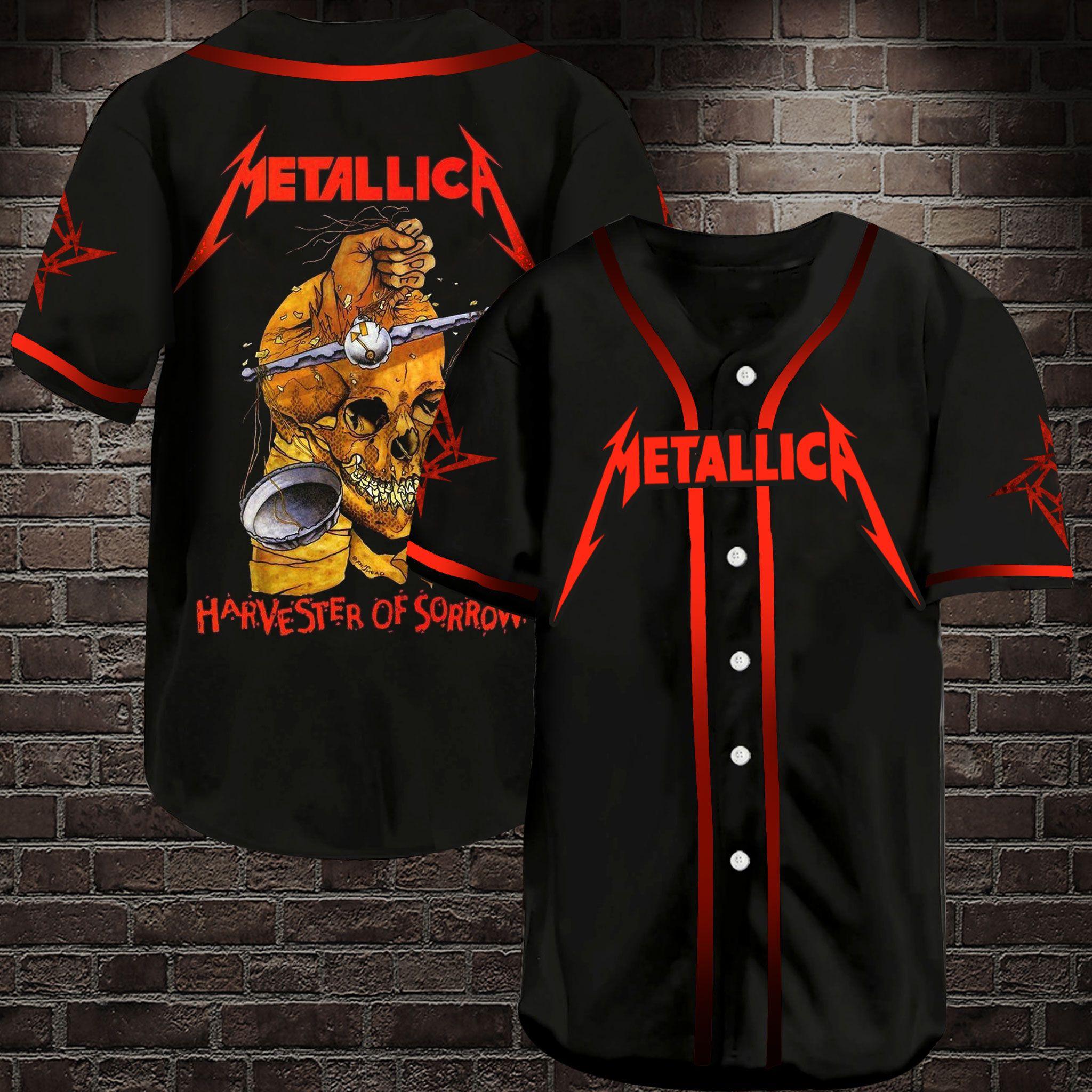 Metallica Harvester of Sorrow Baseball Jersey Shirt