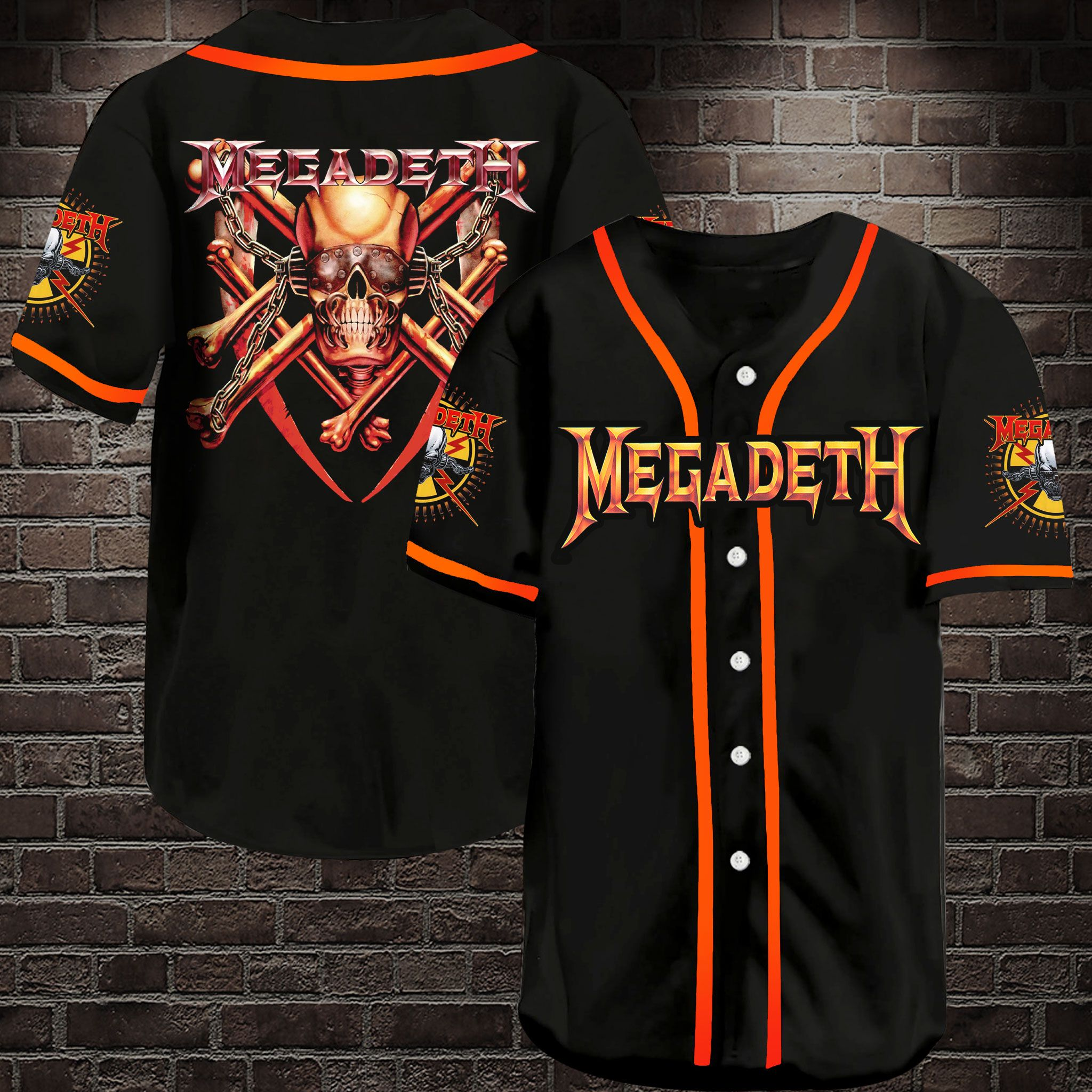 Megadeth Baseball Jersey Shirt