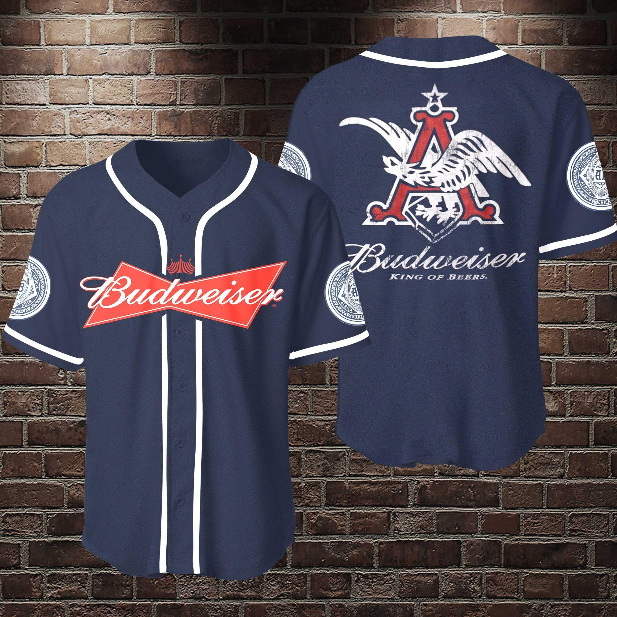 Budweiser Beers Baseball Jersey Shirt