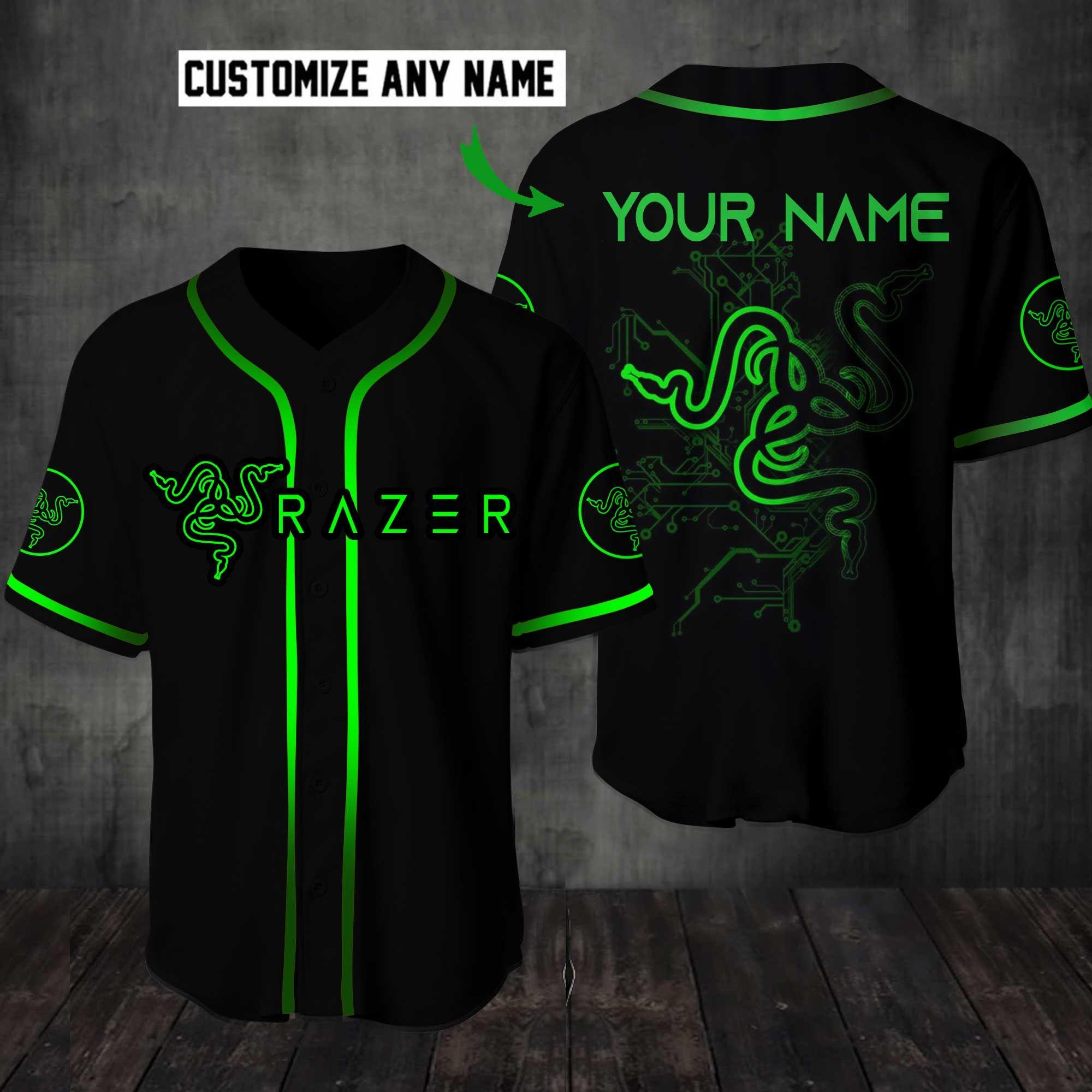 Razer Customize Name Baseball Jersey Shirt