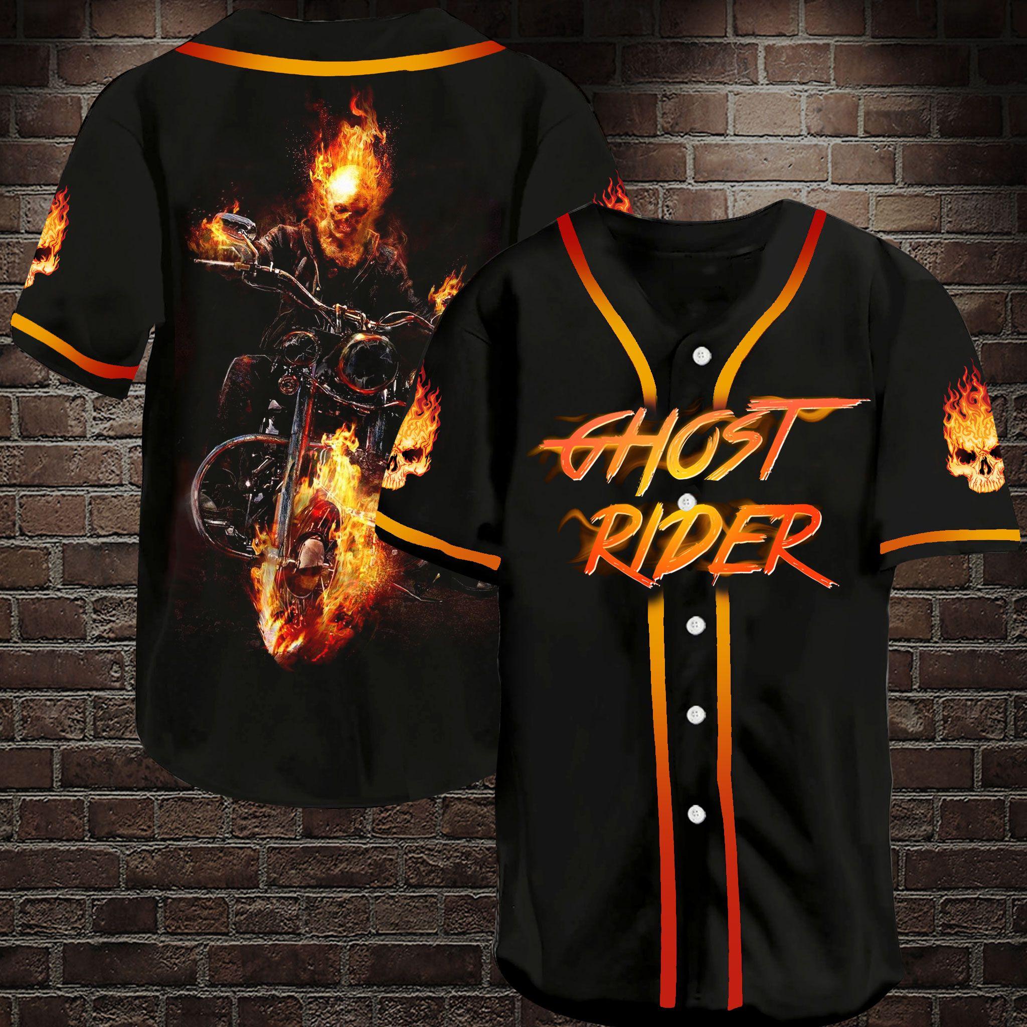 Ghost Rider Baseball Jersey Shirt