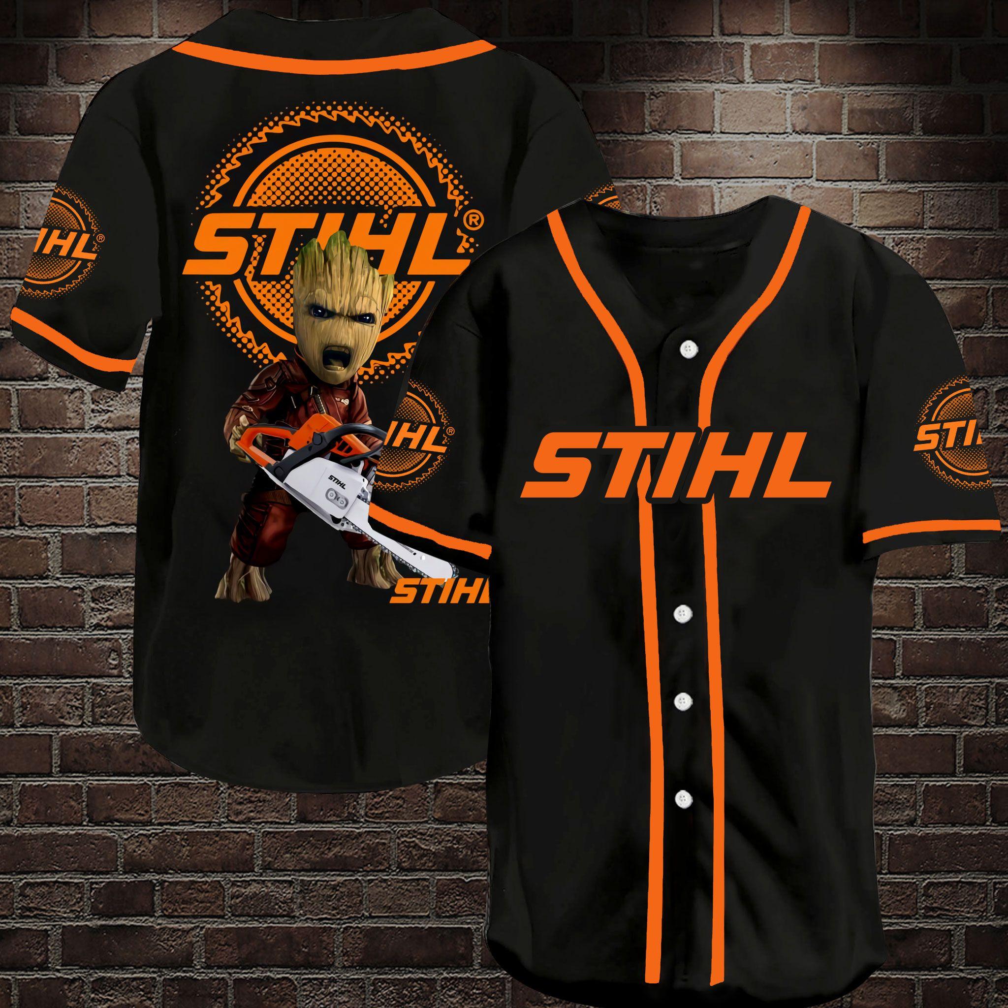 Stihl Chainsaw Groot Baseball Jersey Shirt