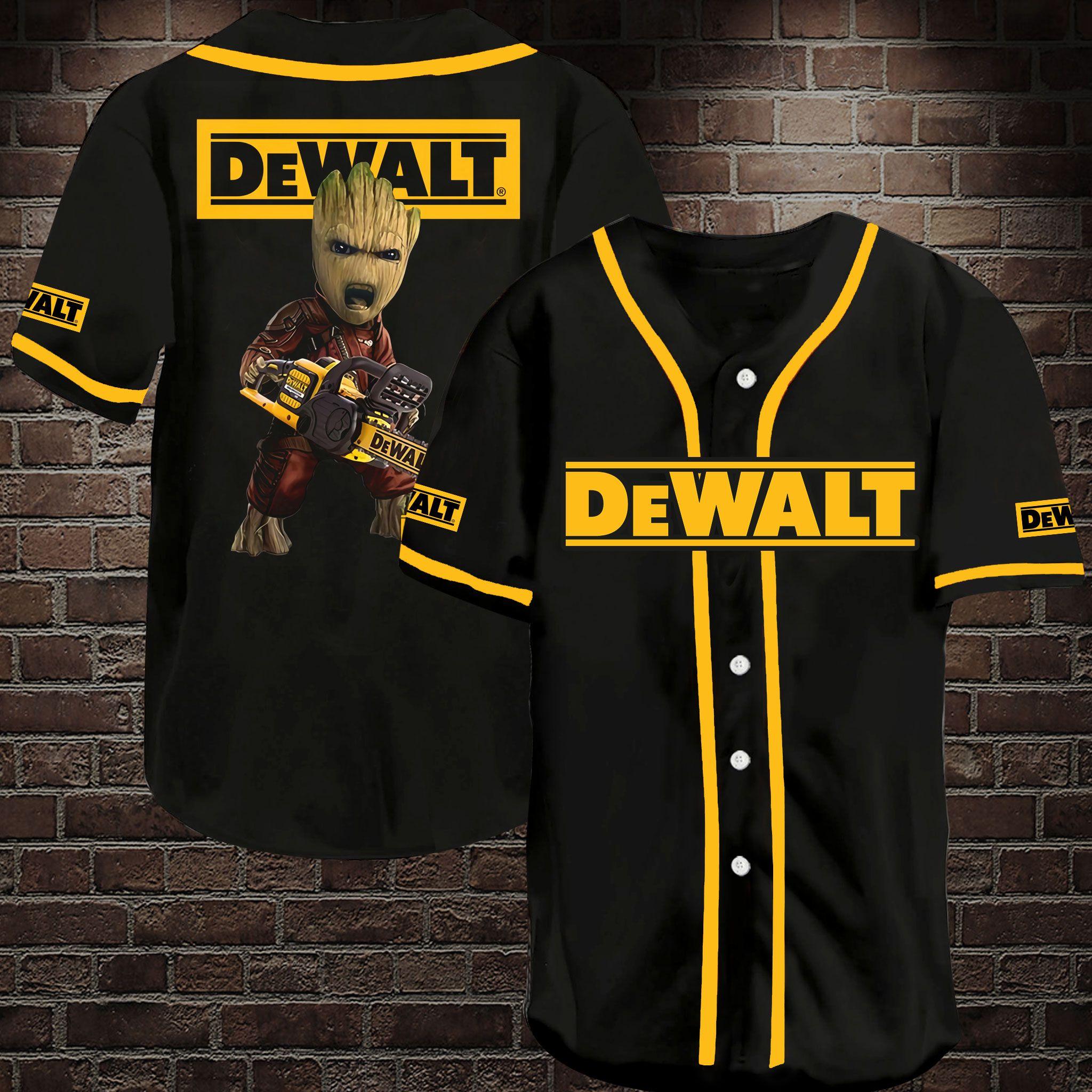 DeWalt Chainsaw Groot Baseball Jersey Shirt