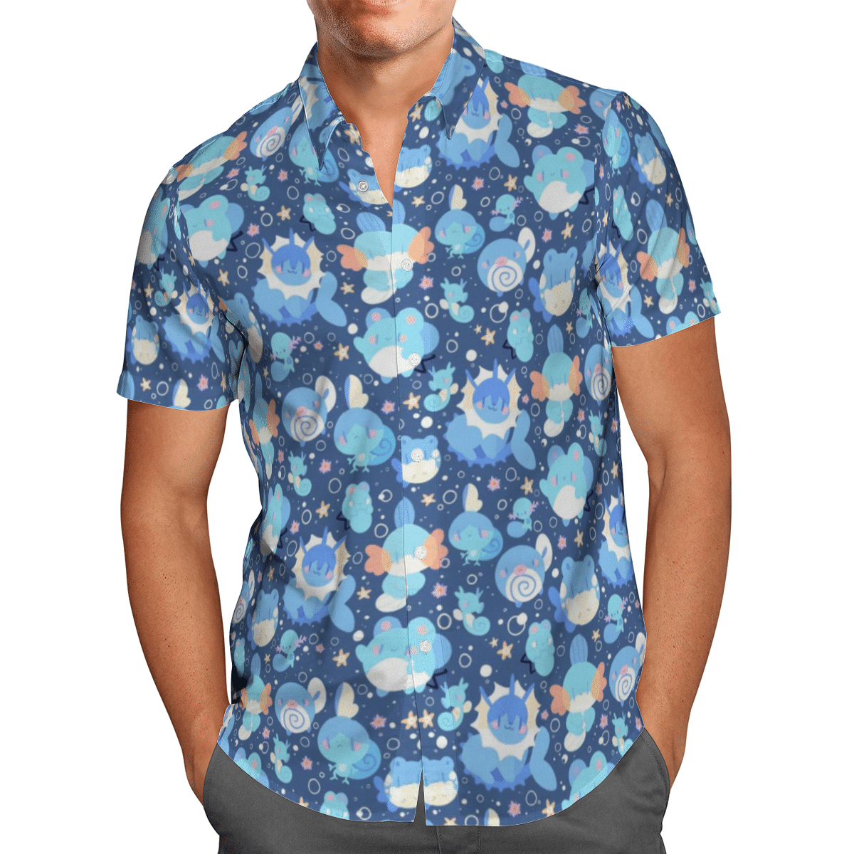 Water type Pokemon Hawaiian Shirt