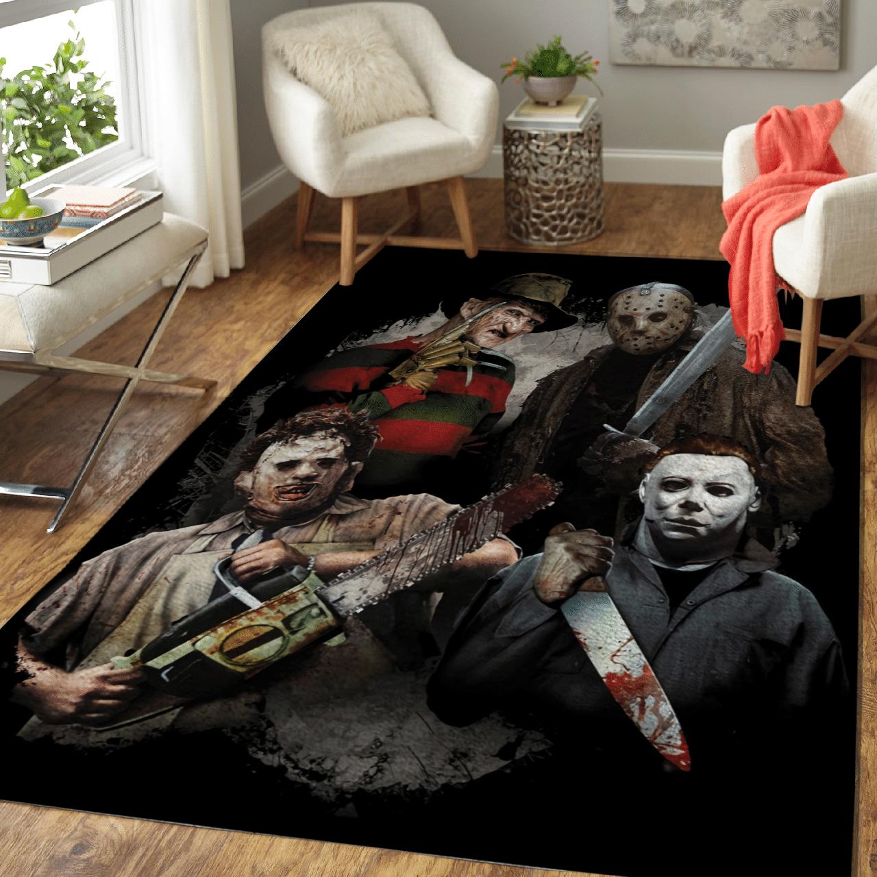 Halloween popular killer horror Carpet Rug