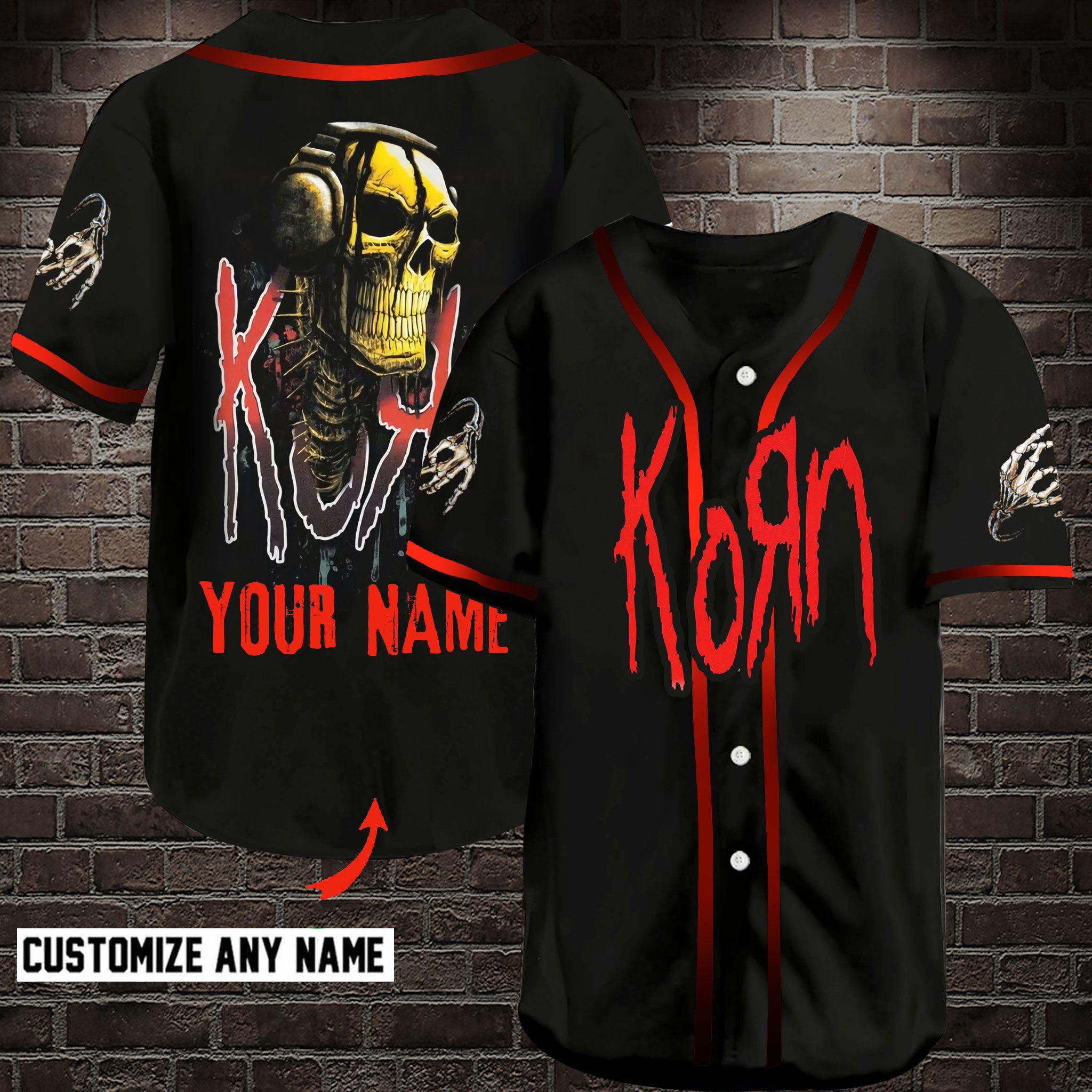 Korn Band Customize Name Baseball Jersey Shirt
