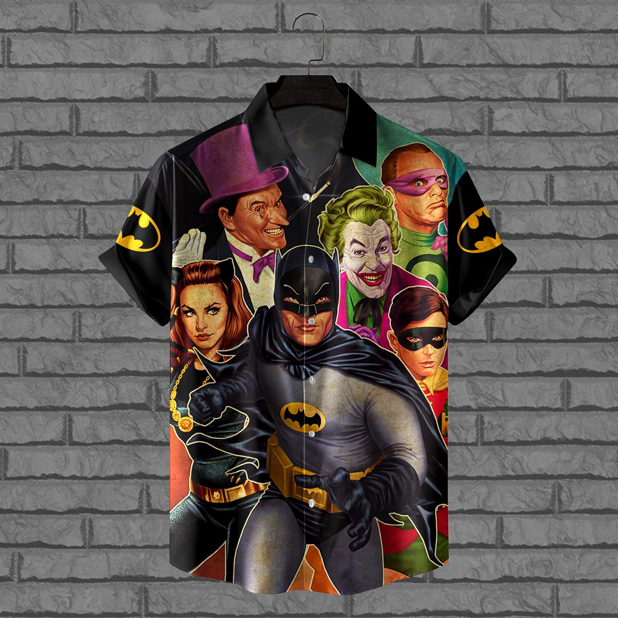 Batman Movie and SuperVillain Hawaiian Shirt