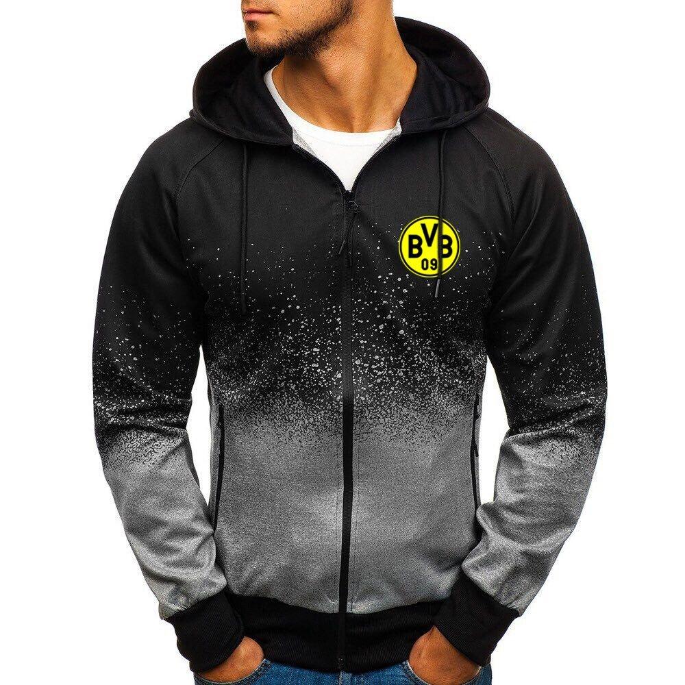 Borussia Dortmund BVB gradient zip hoodie