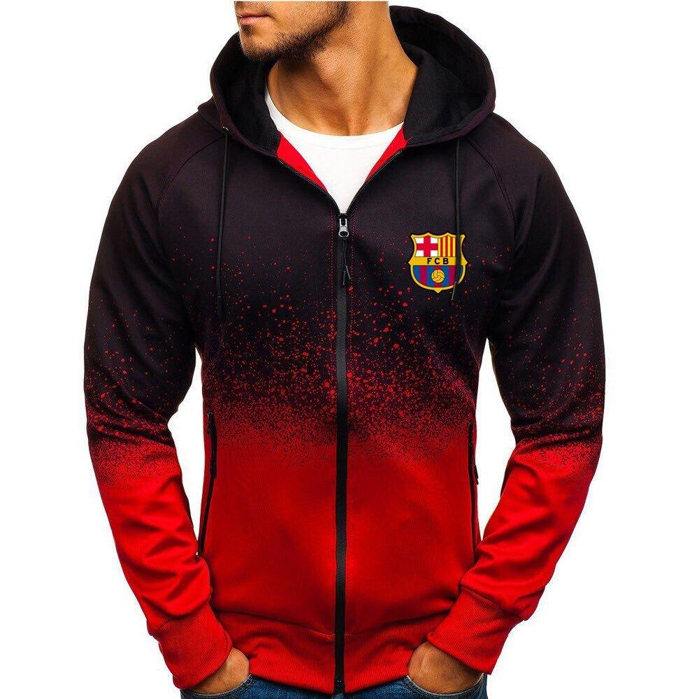 FC Barcelona football club gradient zip hoodie