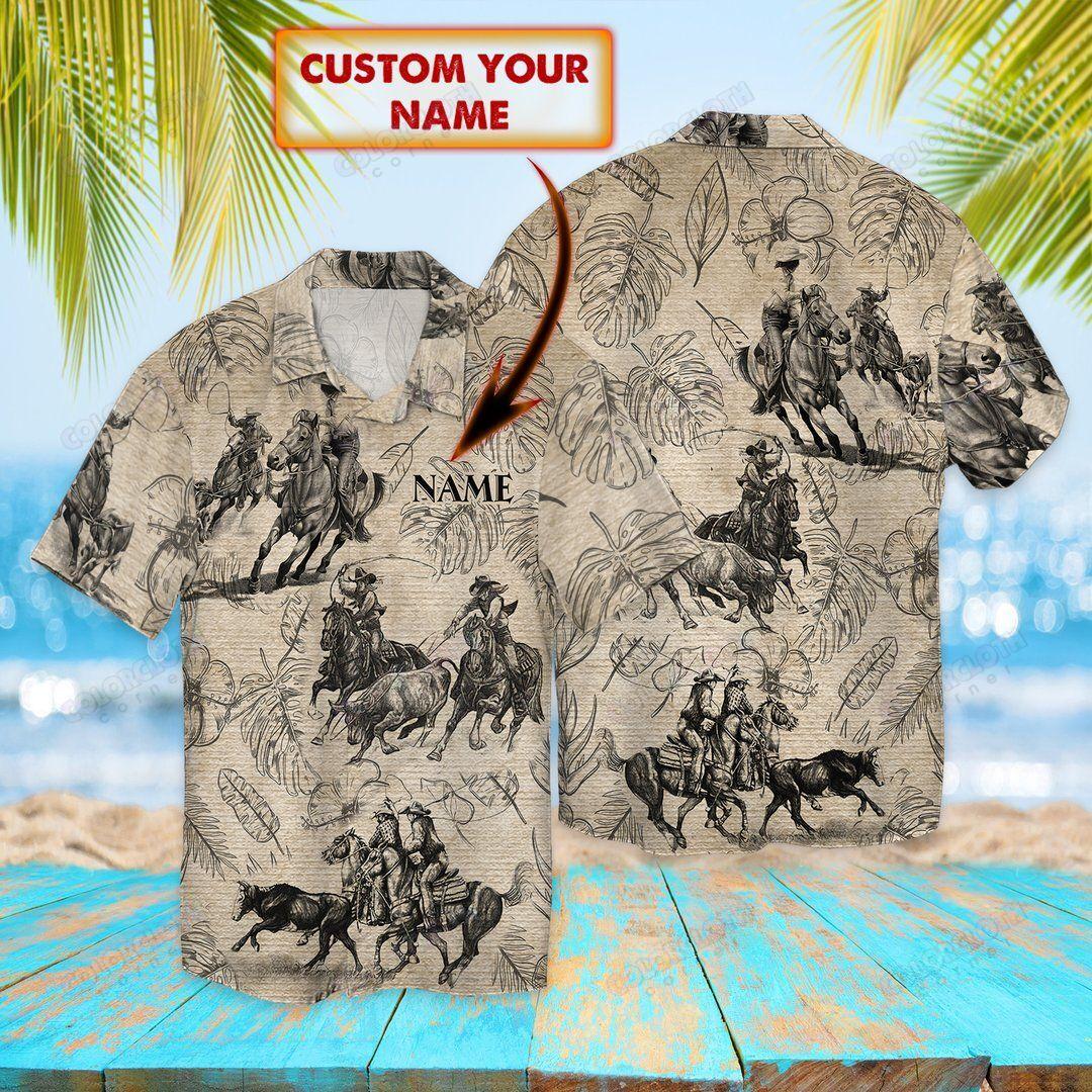 Horse Jump Roping Custom Hawaiian Shirt
