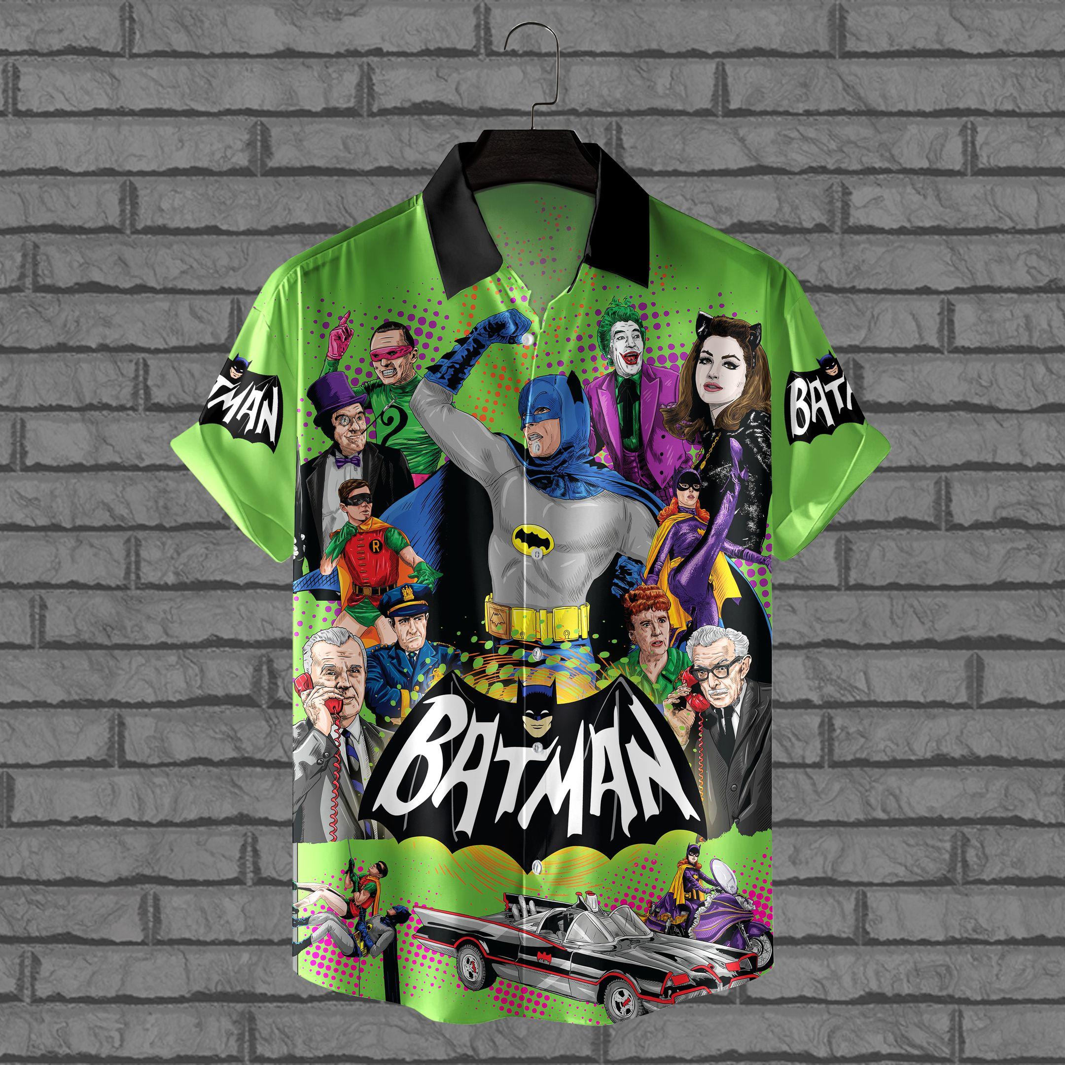 Batman heros villains batmobile Hawaiian Shirt