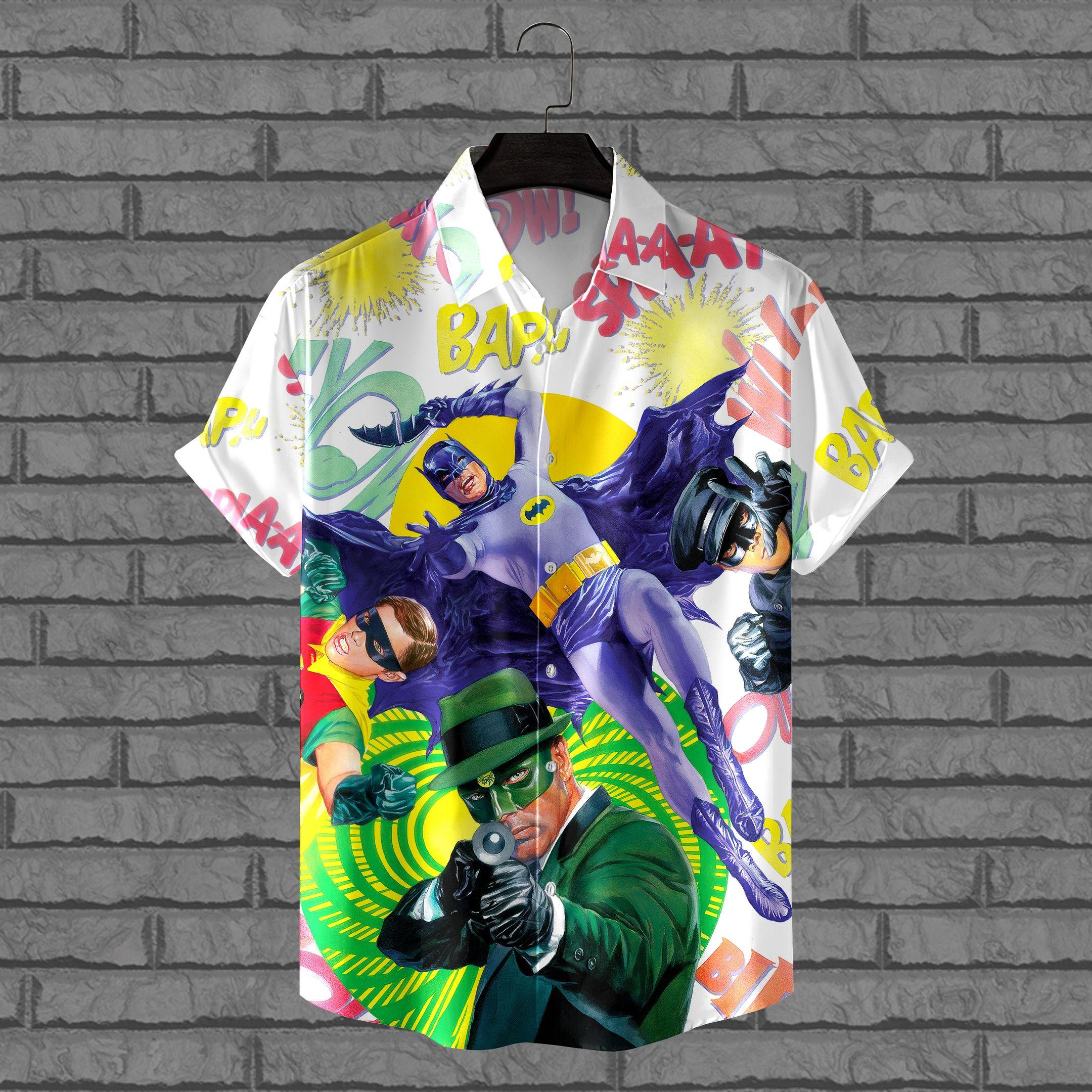 Batman vs Green Villains Hawaiian Shirt