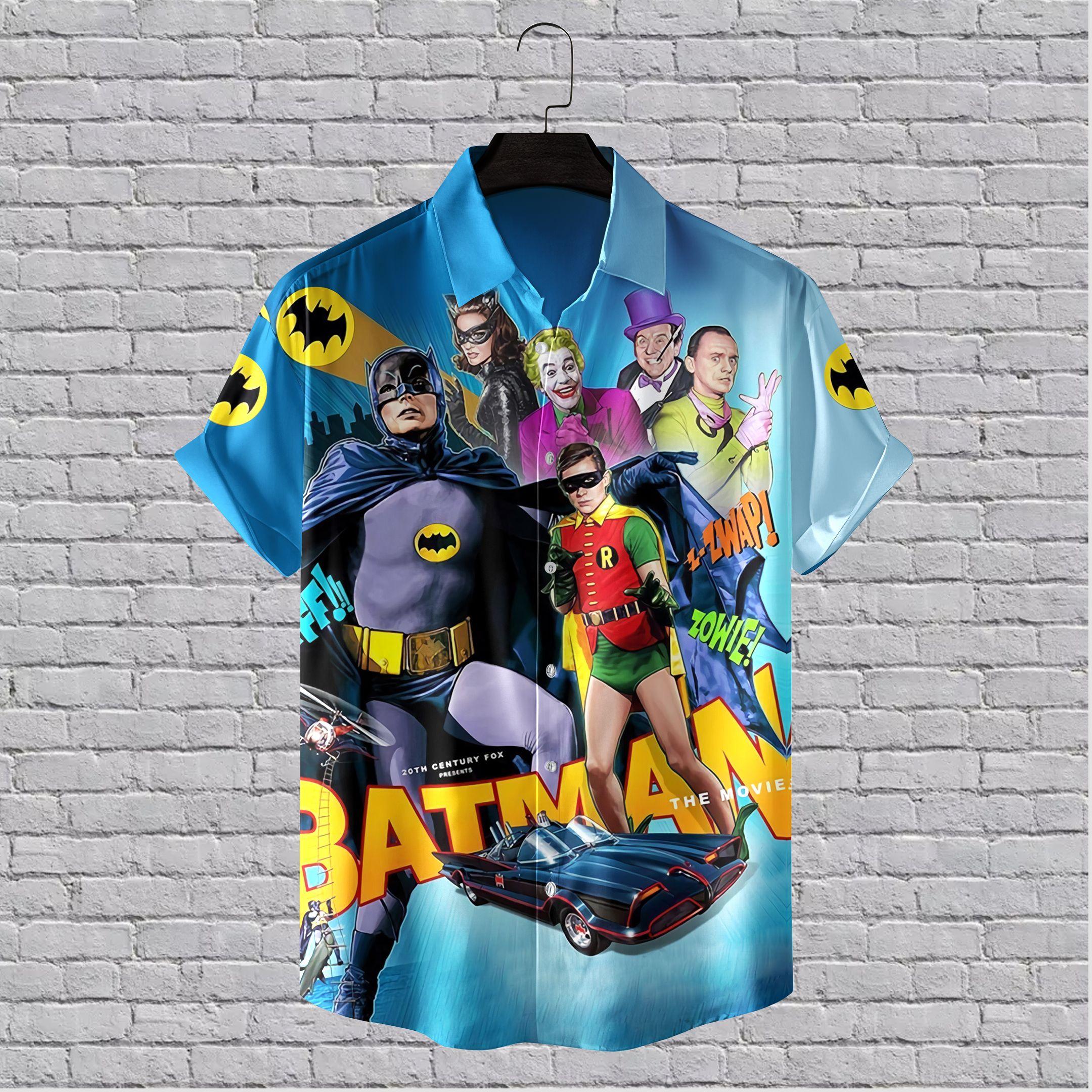 Batman Movie 1966 Main Characters Hawaiian Shirt