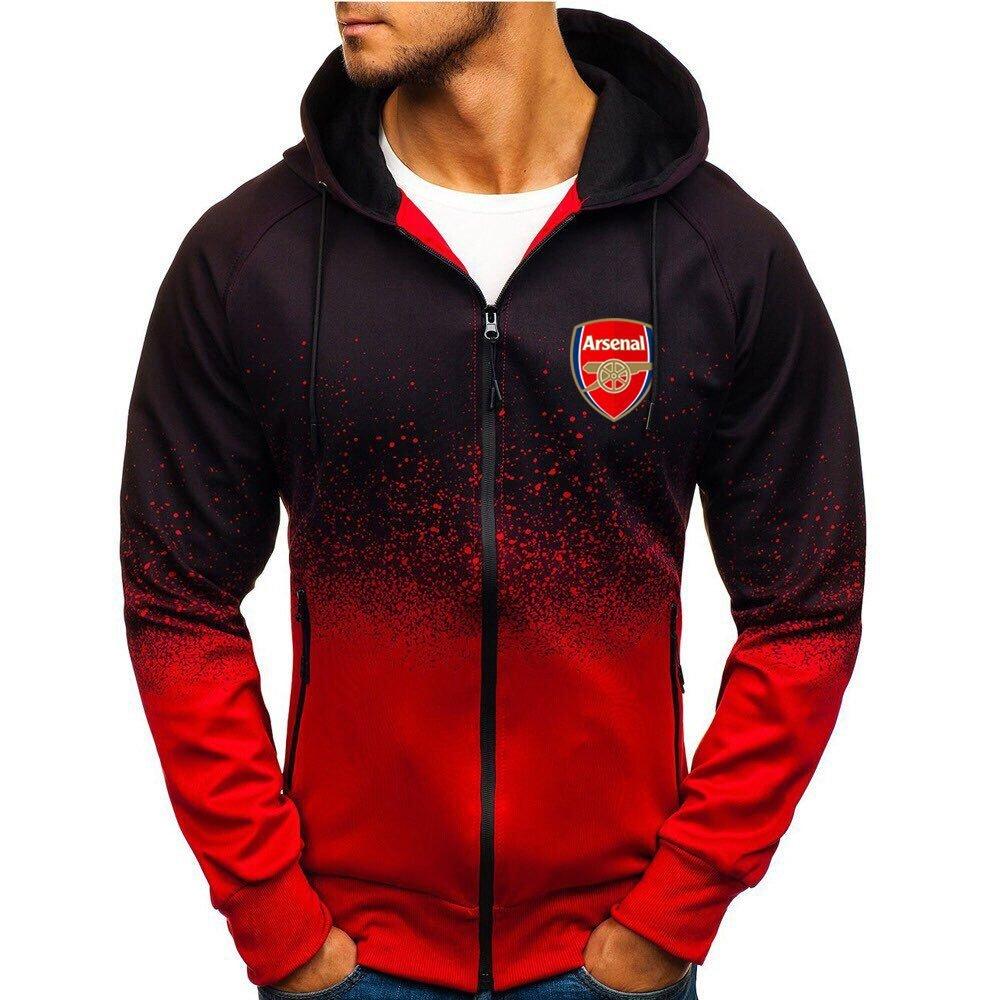 Arsenal football club gradient zip hoodie