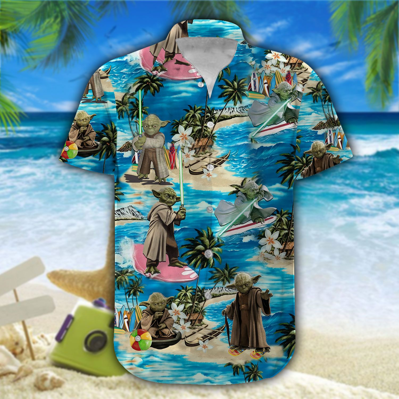 Yoda Starwars Hawaiian Shirt